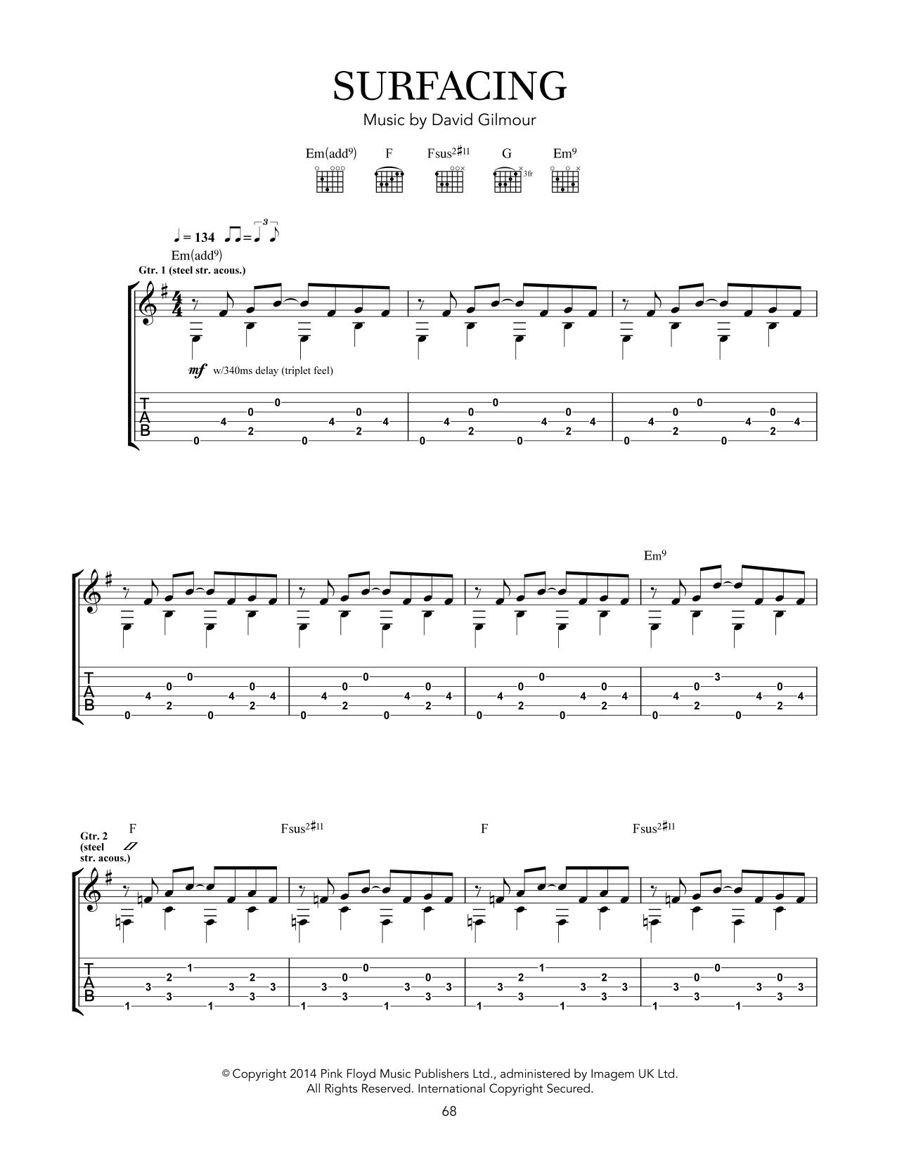 Surfacing (Guitar Tab)