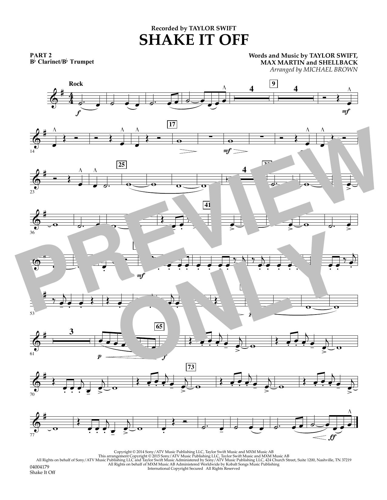 Shake It Off - Pt.2 - Bb Clarinet/Bb Trumpet (Flex-Band)