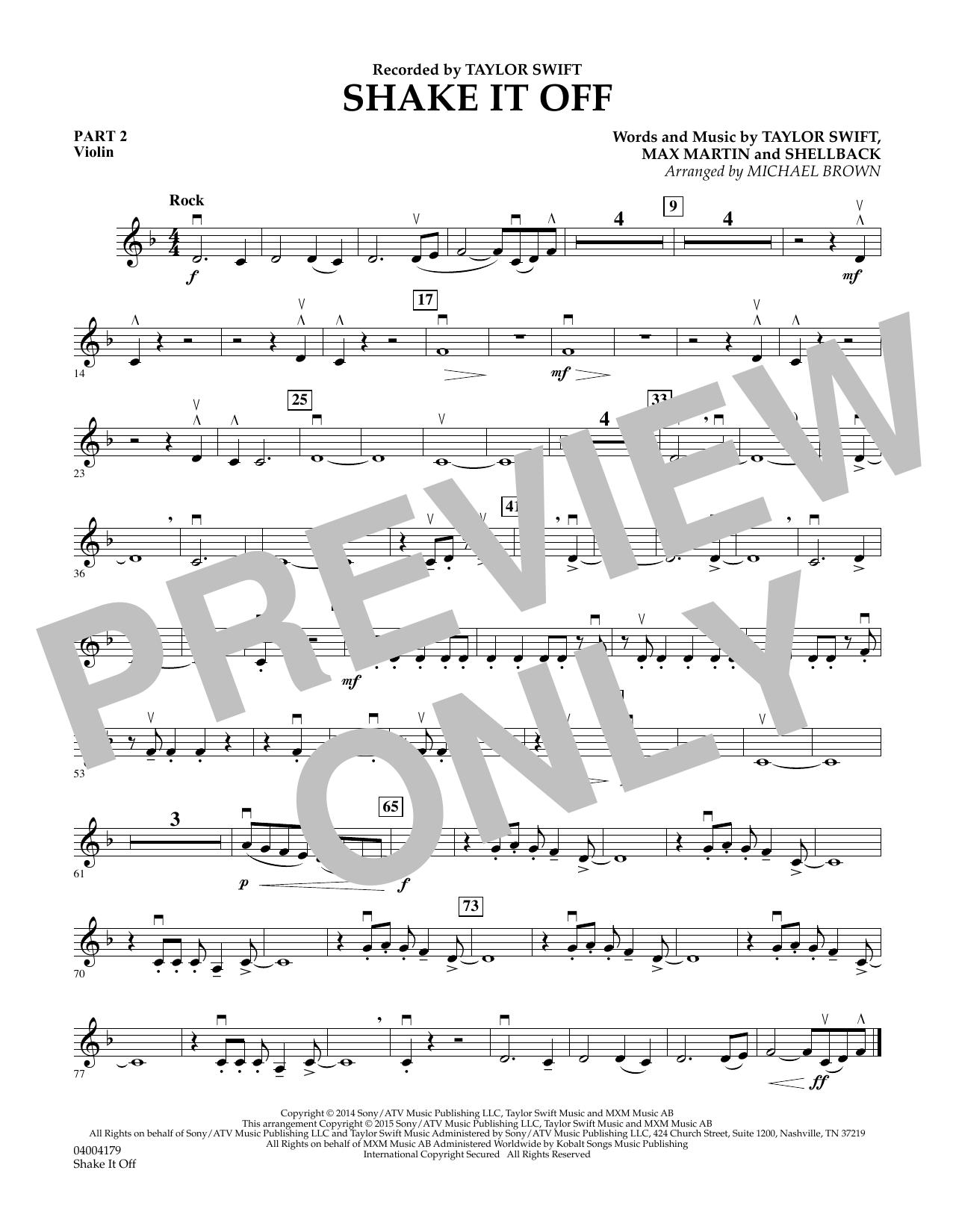 Shake It Off - Pt.2 - Violin (Flex-Band)