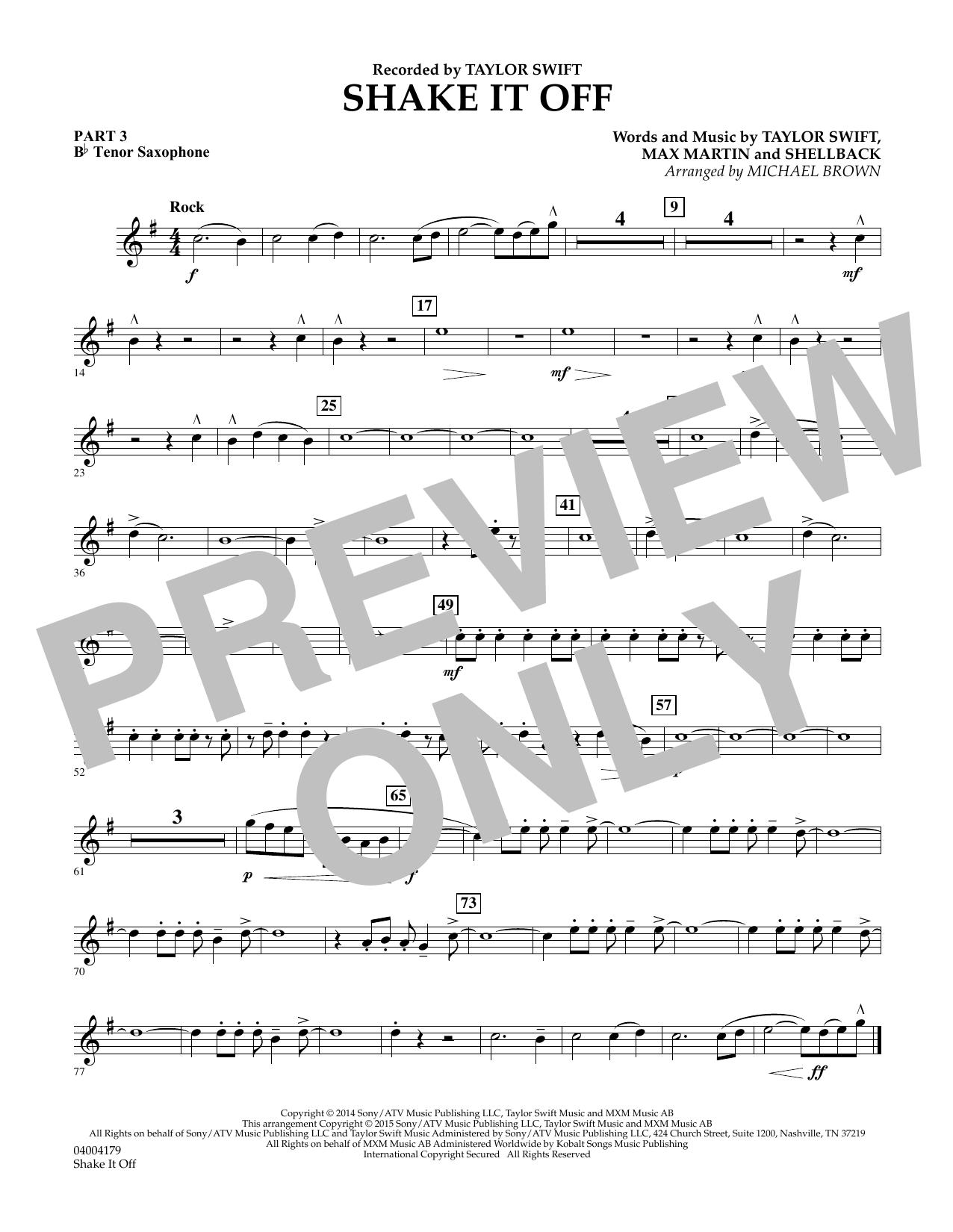 Shake It Off - Pt.3 - Bb Tenor Saxophone (Flex-Band)
