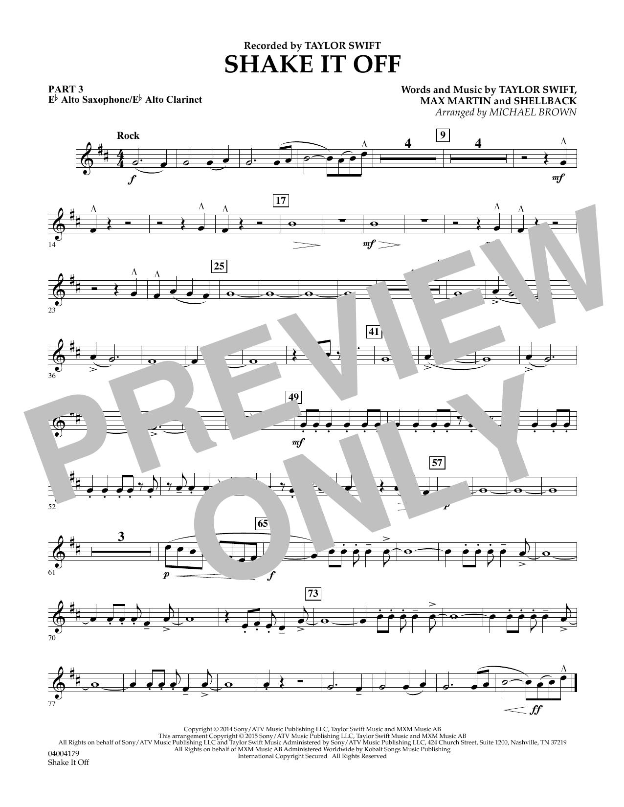 Shake It Off - Pt.3 - Eb Alto Sax/Alto Clar. (Flex-Band)