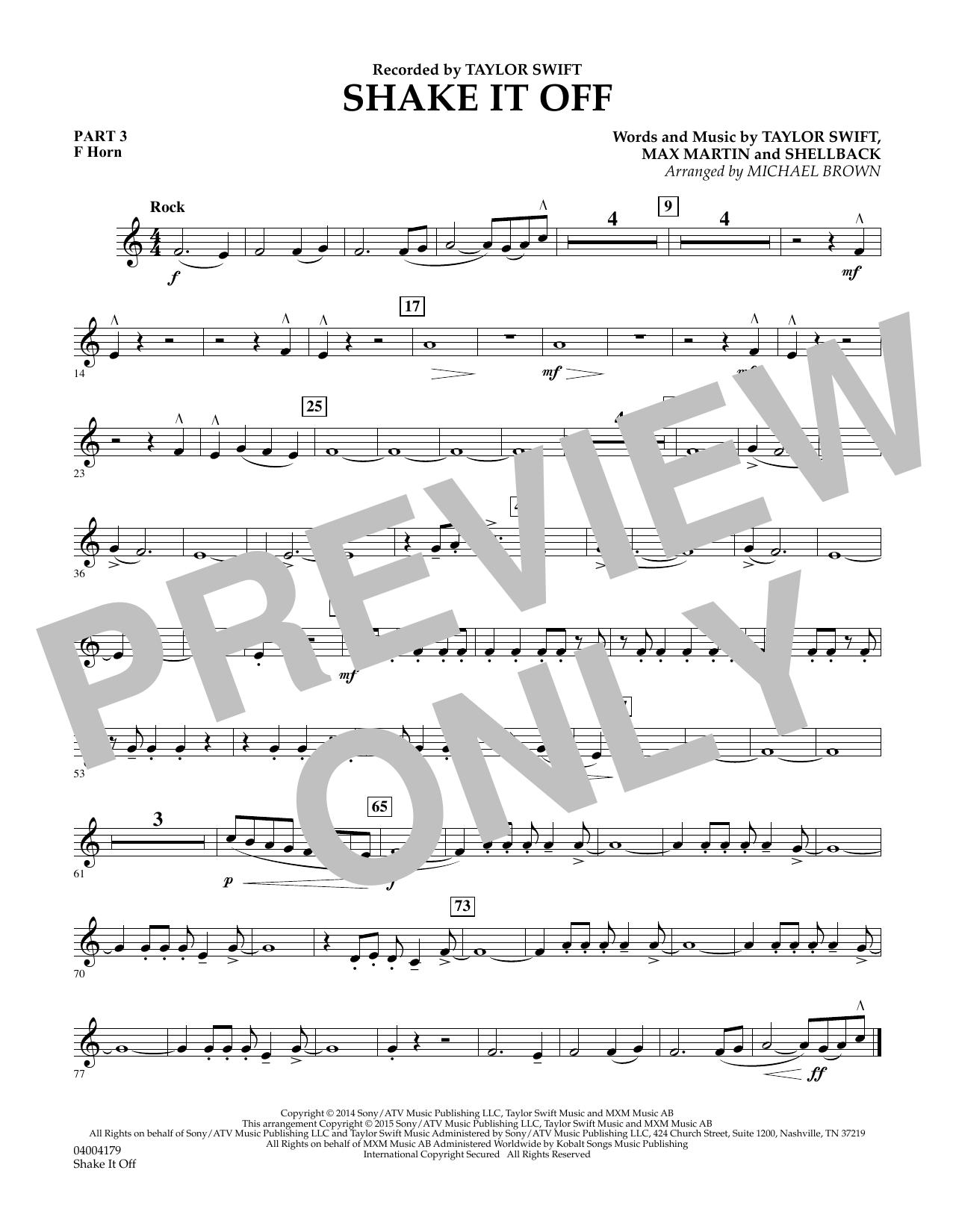 Shake It Off - Pt.3 - F Horn (Flex-Band)