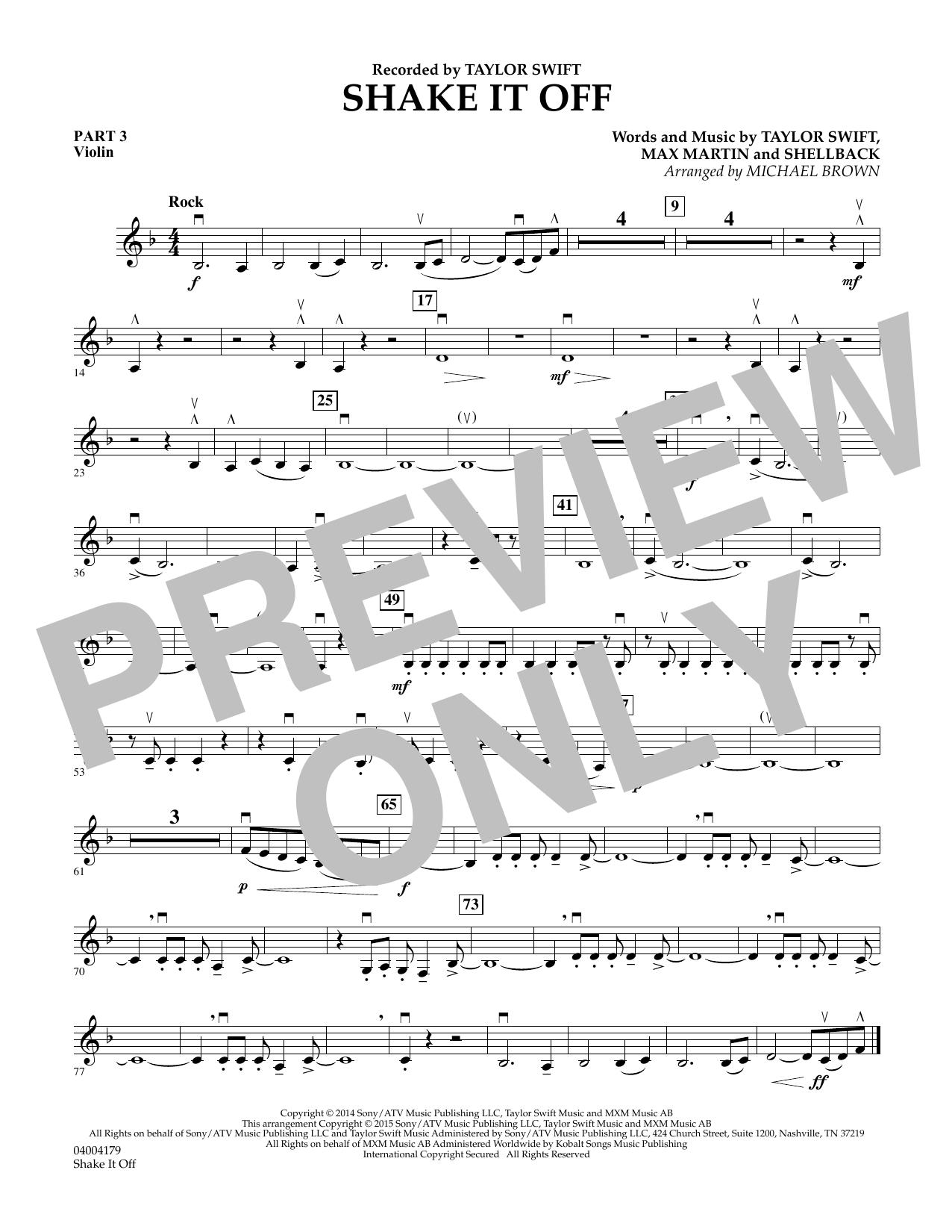 Shake It Off - Pt.3 - Violin (Flex-Band)