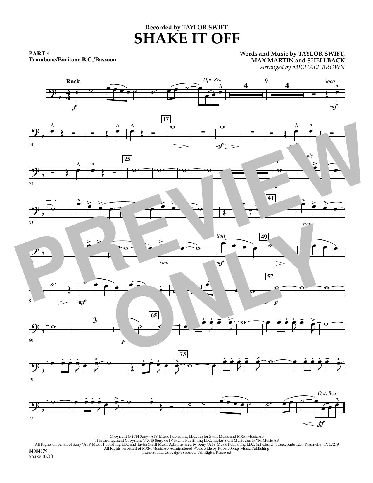 Shake It Off - Pt.4 - Trombone/Bar. B.C./Bsn. (Flex-Band)