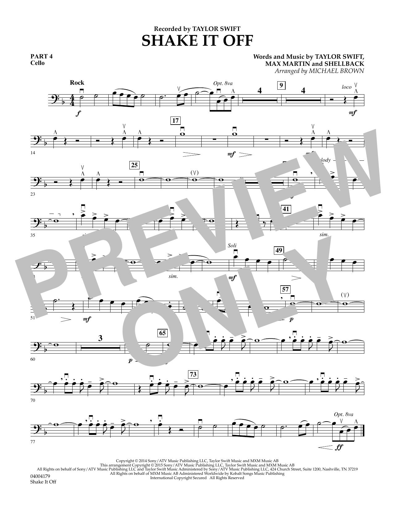 Shake It Off - Pt.4 - Cello (Flex-Band)