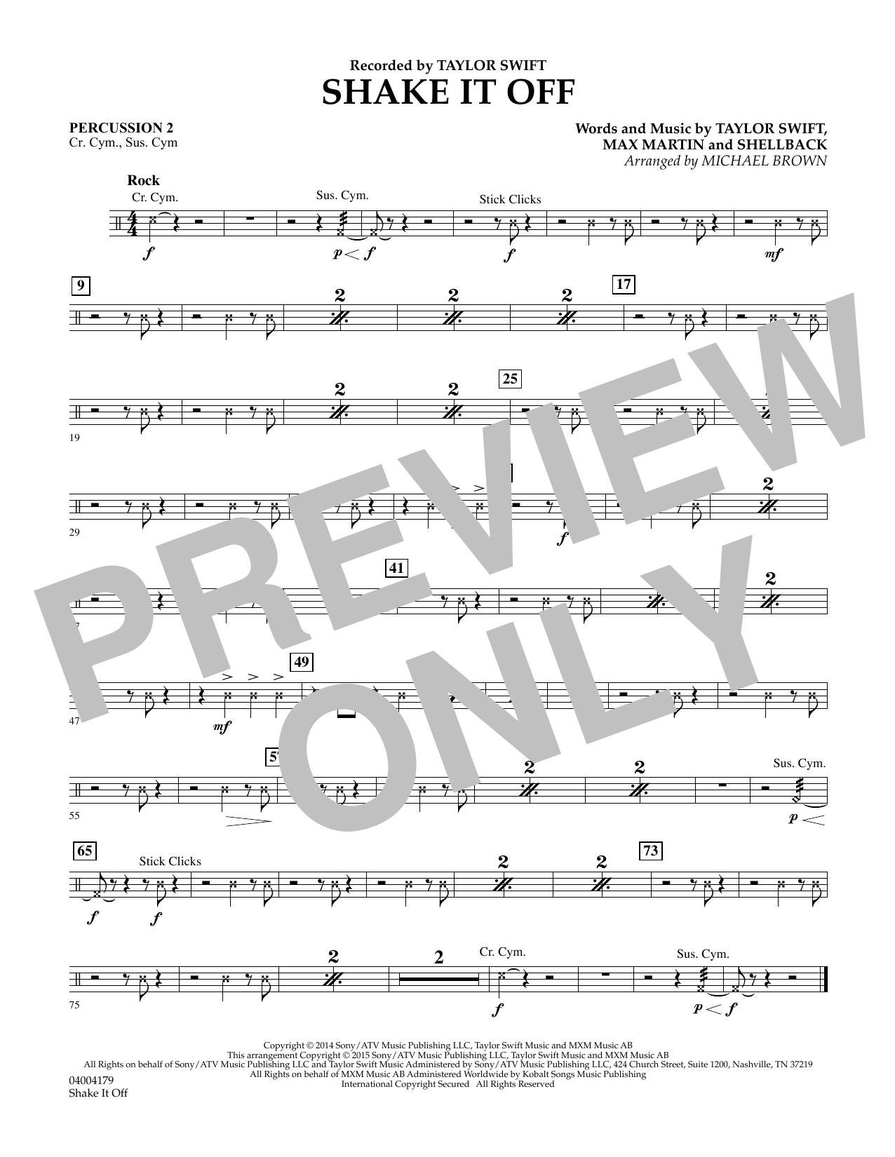 Shake It Off - Percussion 2 (Flex-Band)