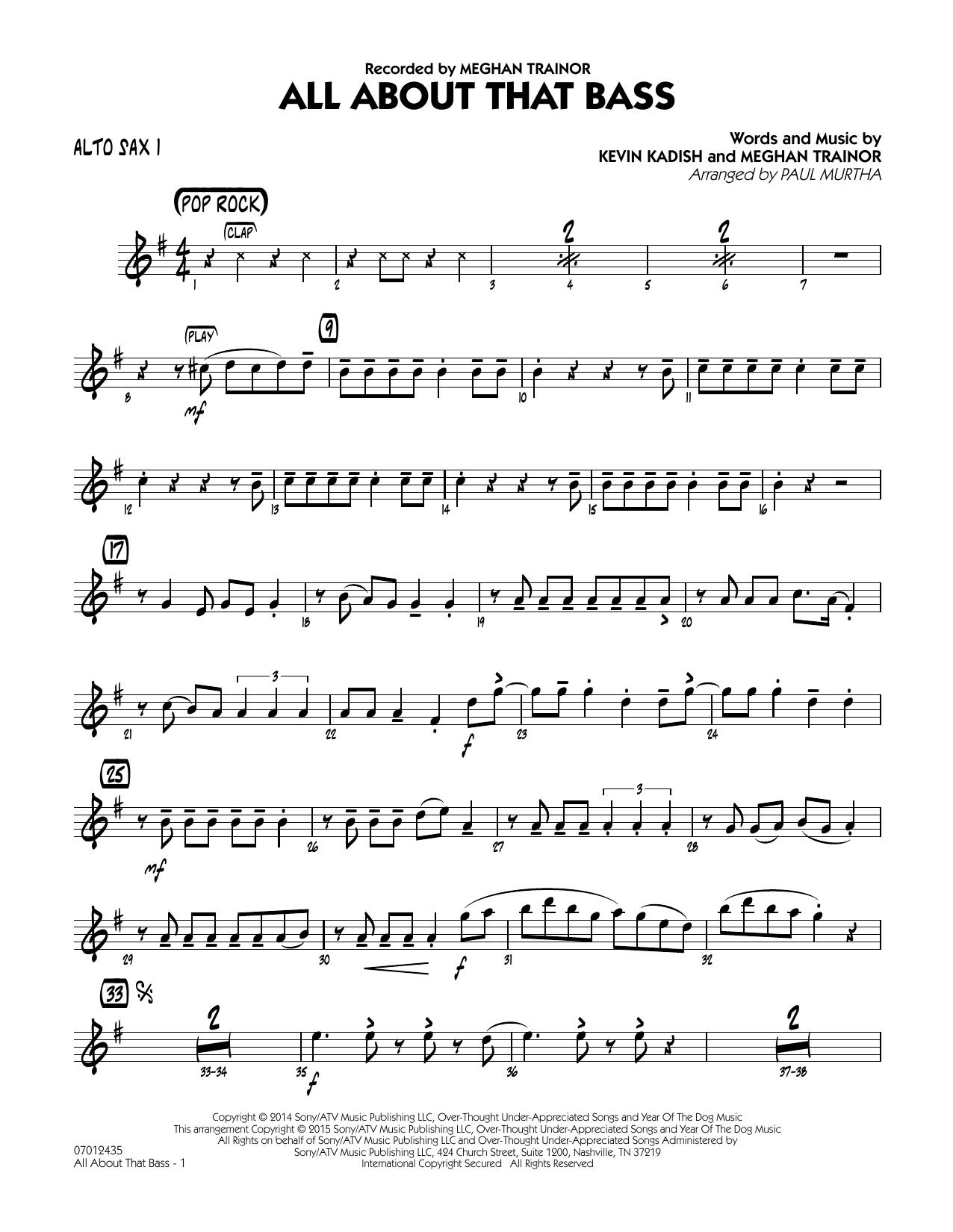 All About That Bass - Alto Sax 1 (Jazz Ensemble)