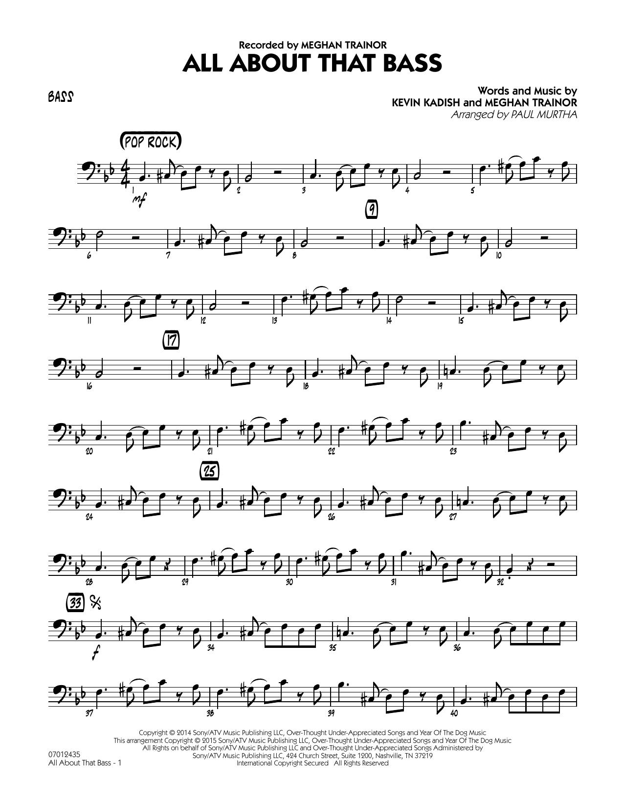 All About That Bass - Bass (Jazz Ensemble)