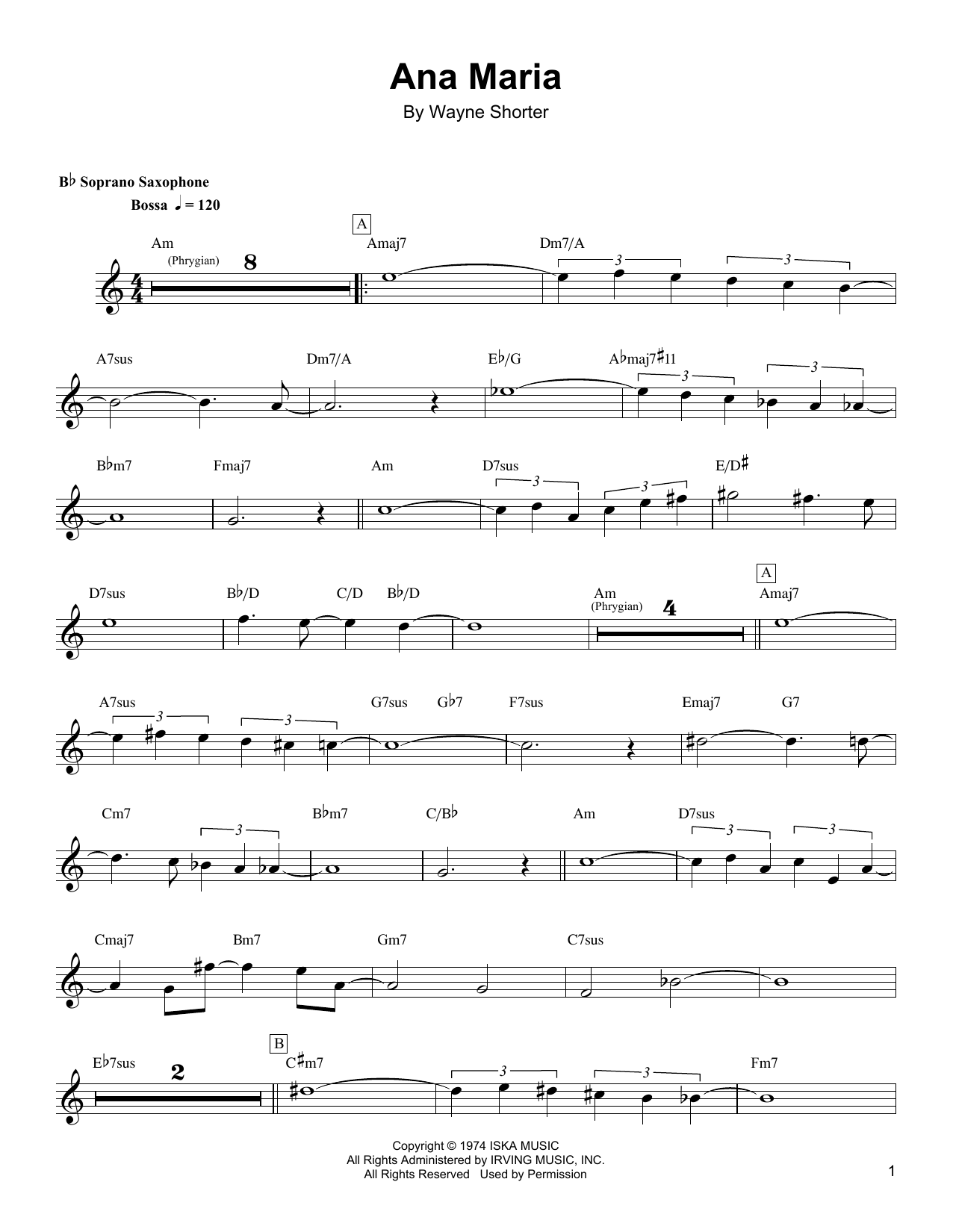 Ana Maria Sheet Music