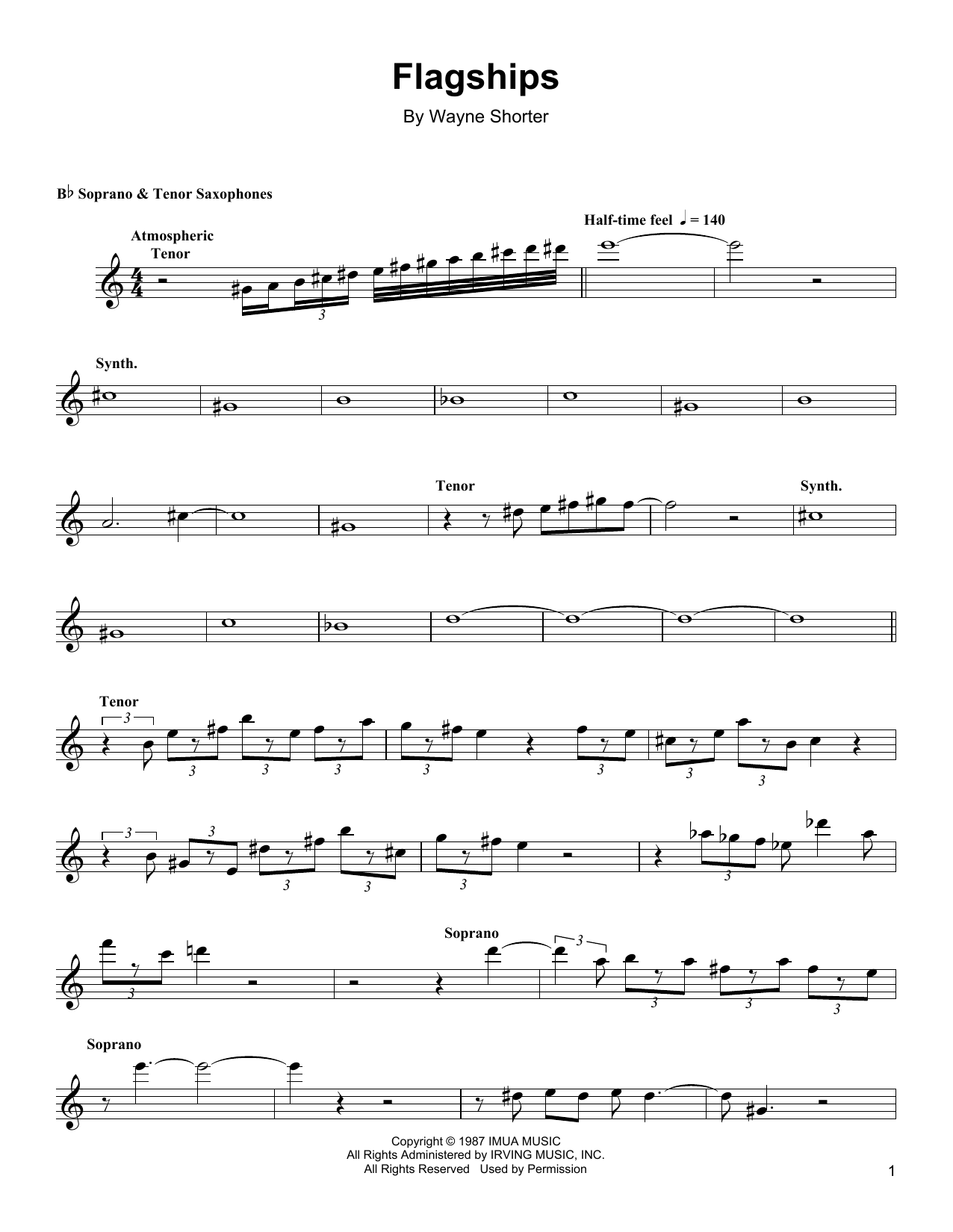 Flagships Sheet Music