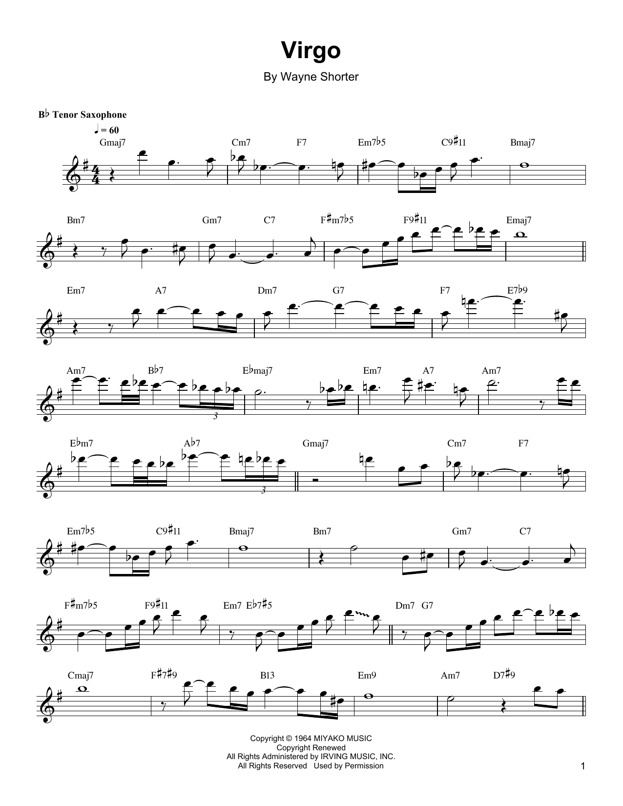Virgo Sheet Music