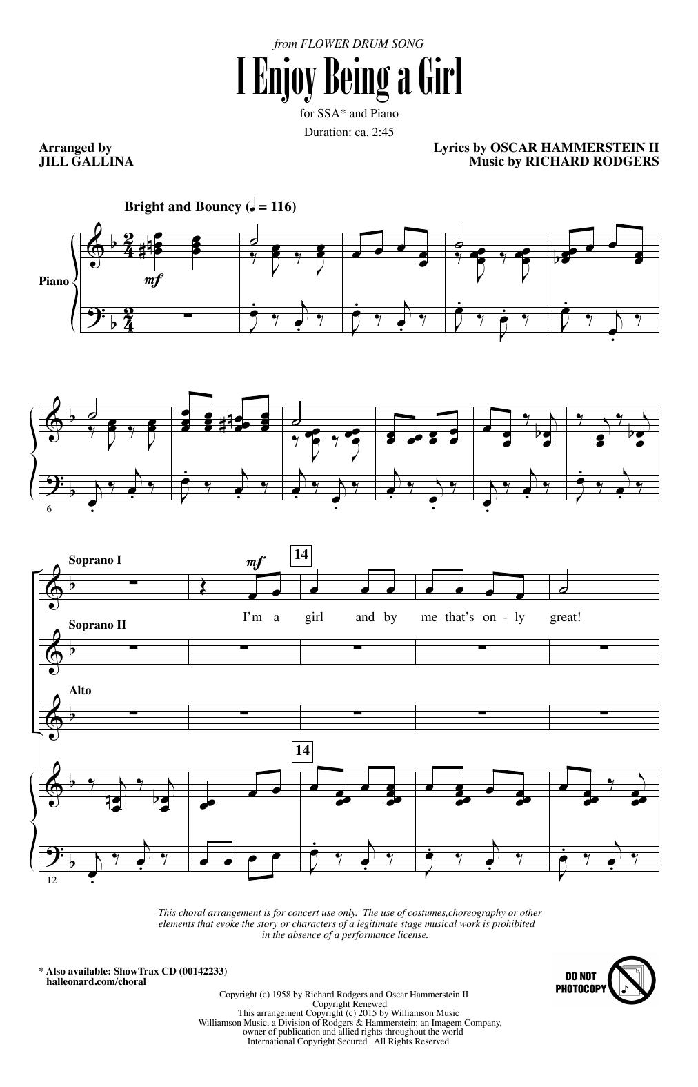 I Enjoy Being A Girl (SSA Choir)