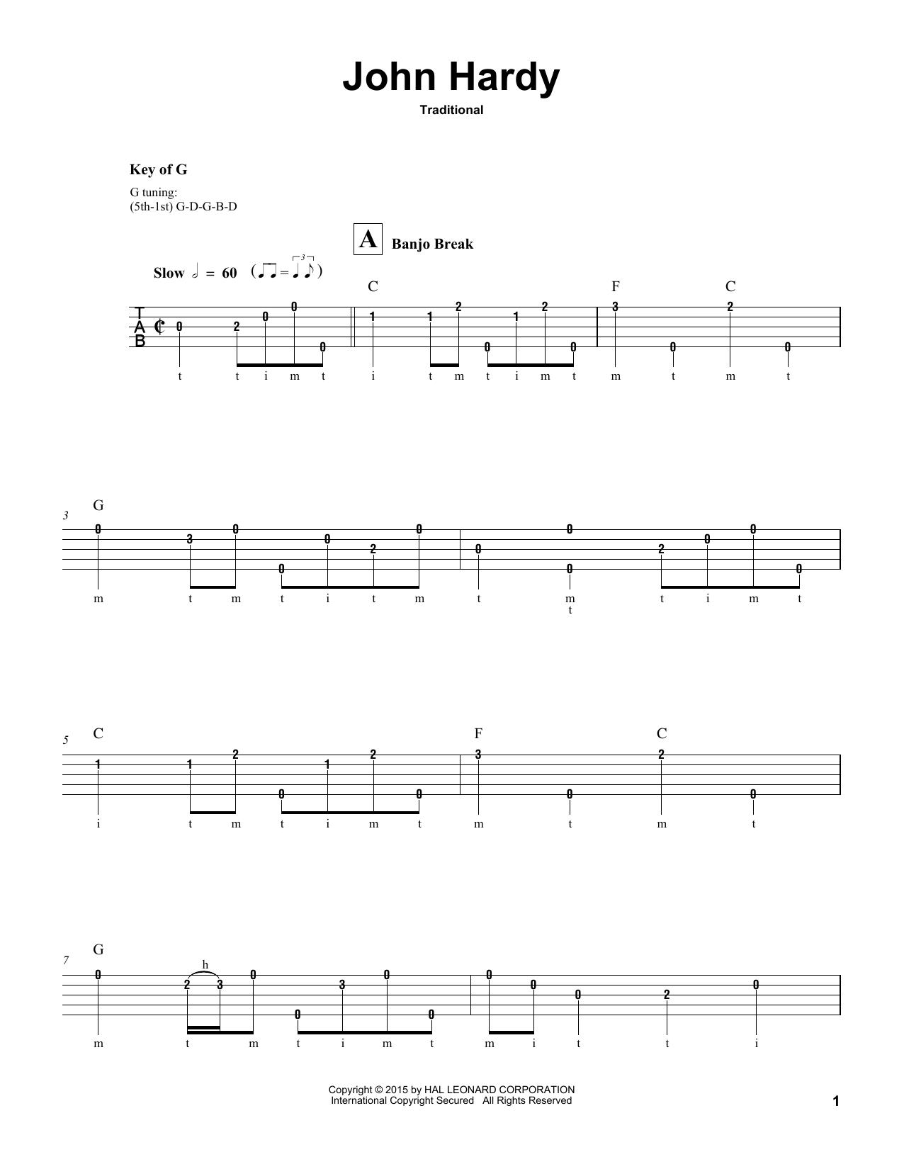 John Hardy Sheet Music