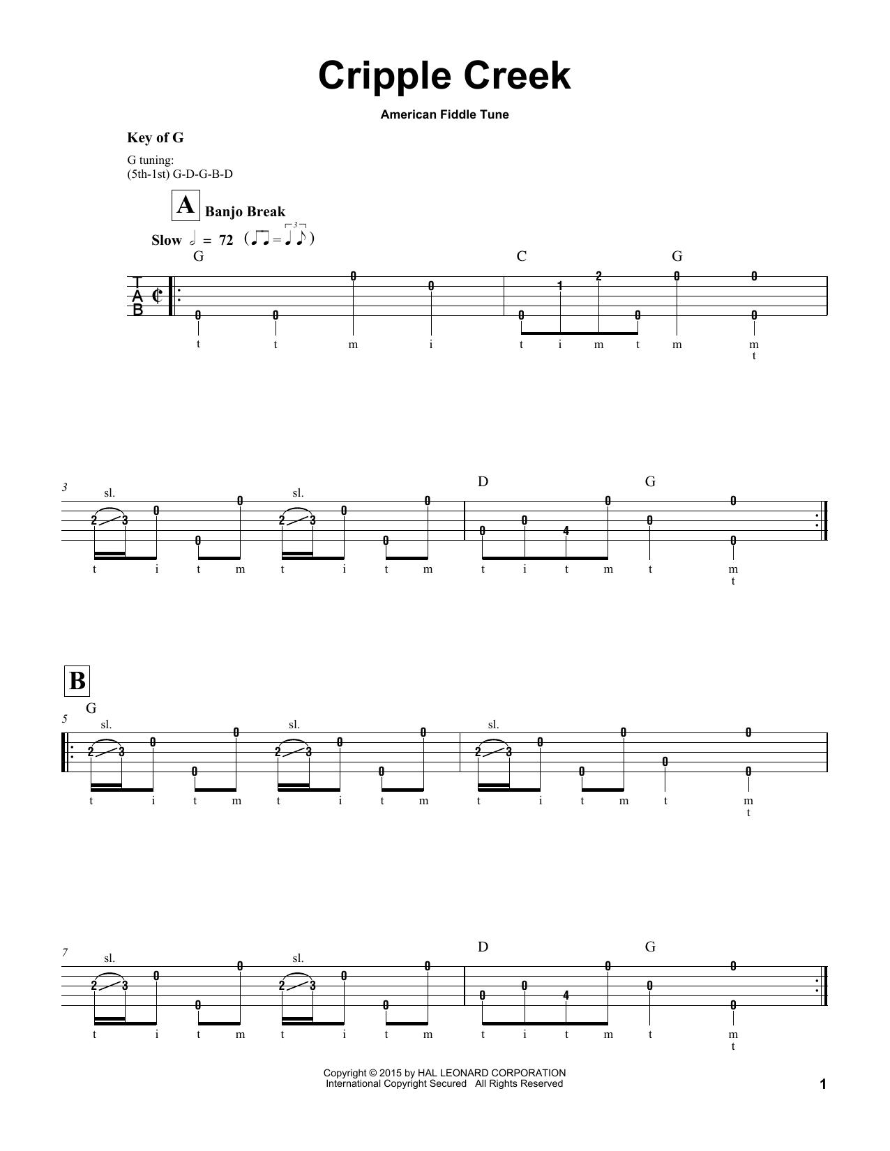 Partition autre Cripple Creek de American Fiddle Tune - Autre