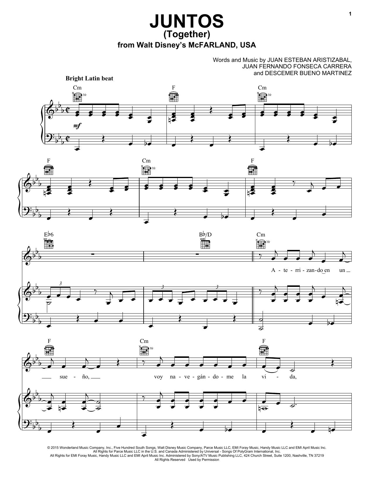 Juntos (Together) Sheet Music