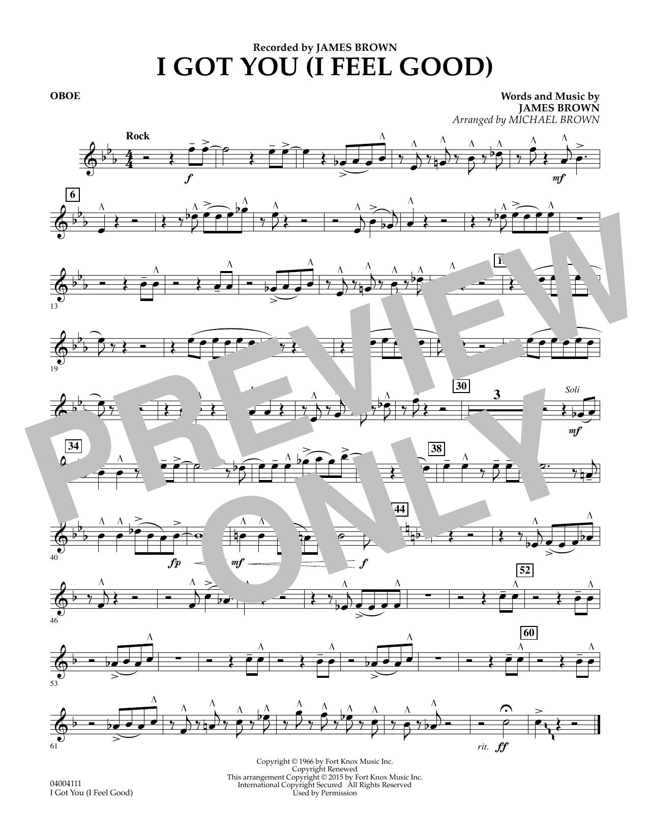 I Got You (I Feel Good) - Oboe (Concert Band)
