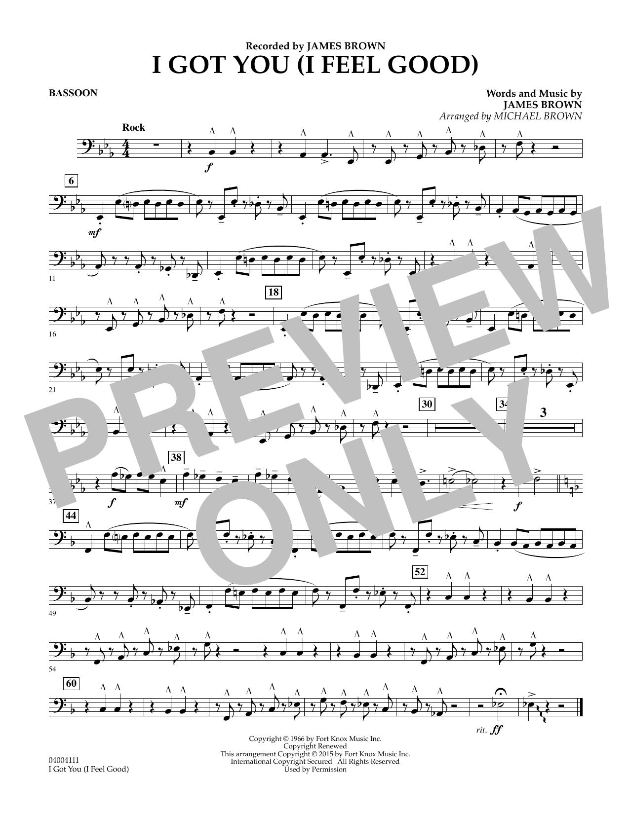 I Got You (I Feel Good) - Bassoon (Concert Band)