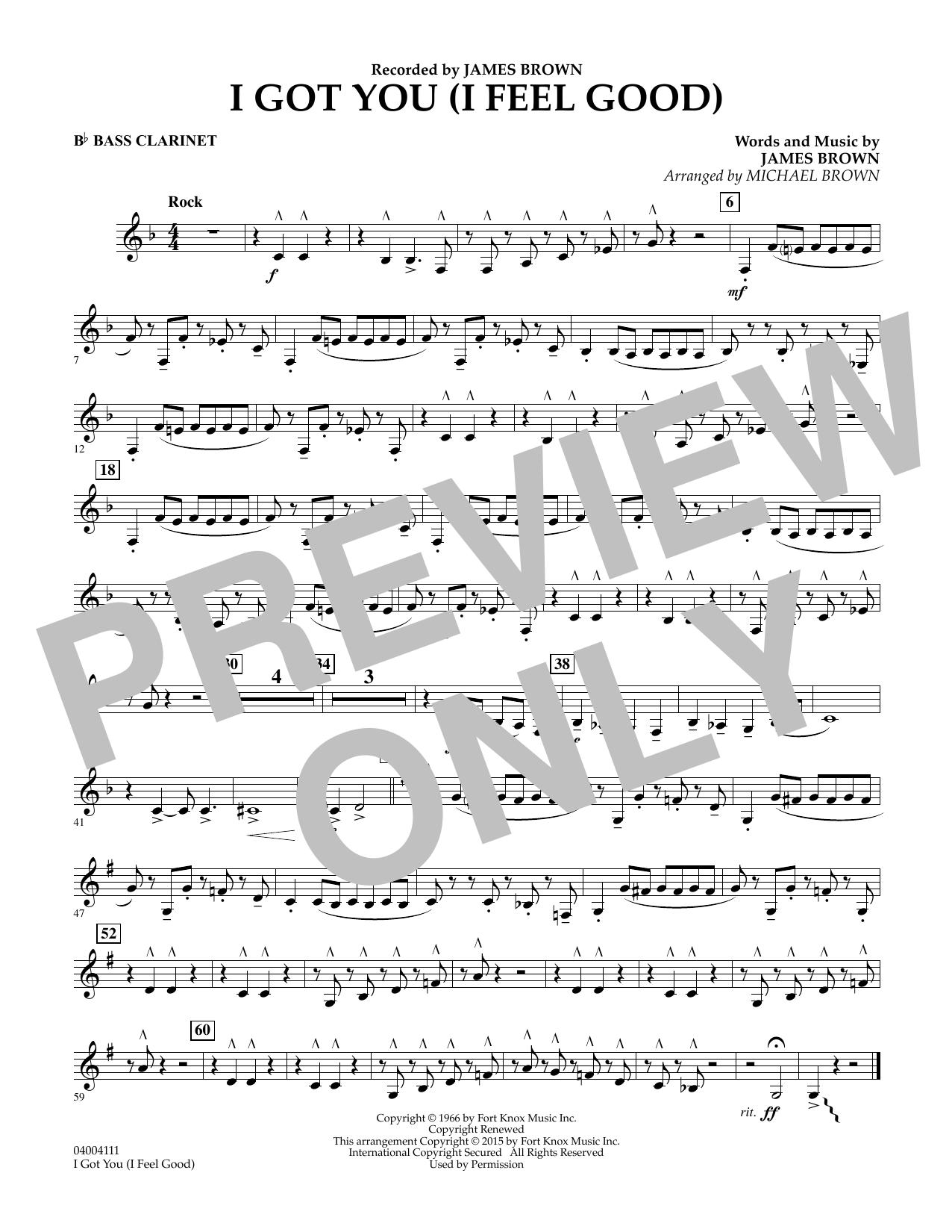 I Got You (I Feel Good) - Bb Bass Clarinet (Concert Band)