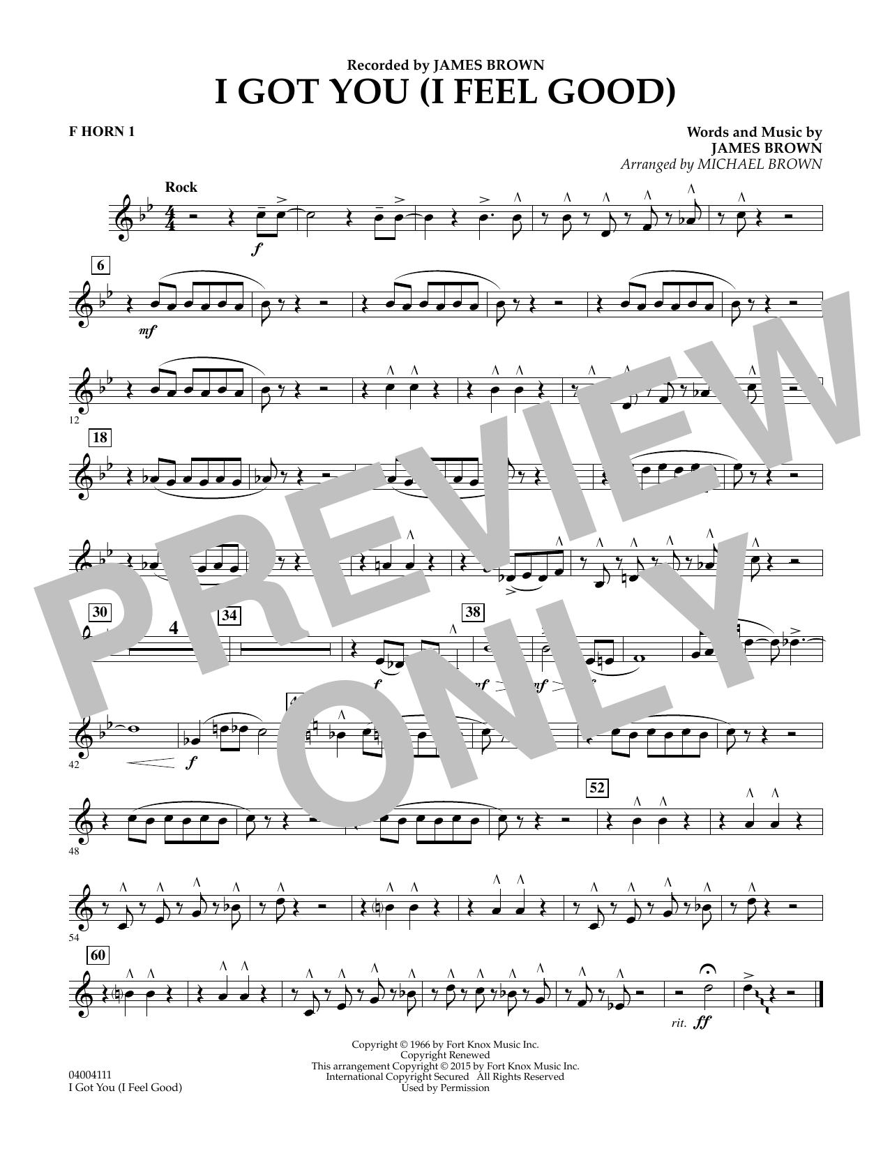 I Got You (I Feel Good) - F Horn 1 (Concert Band)
