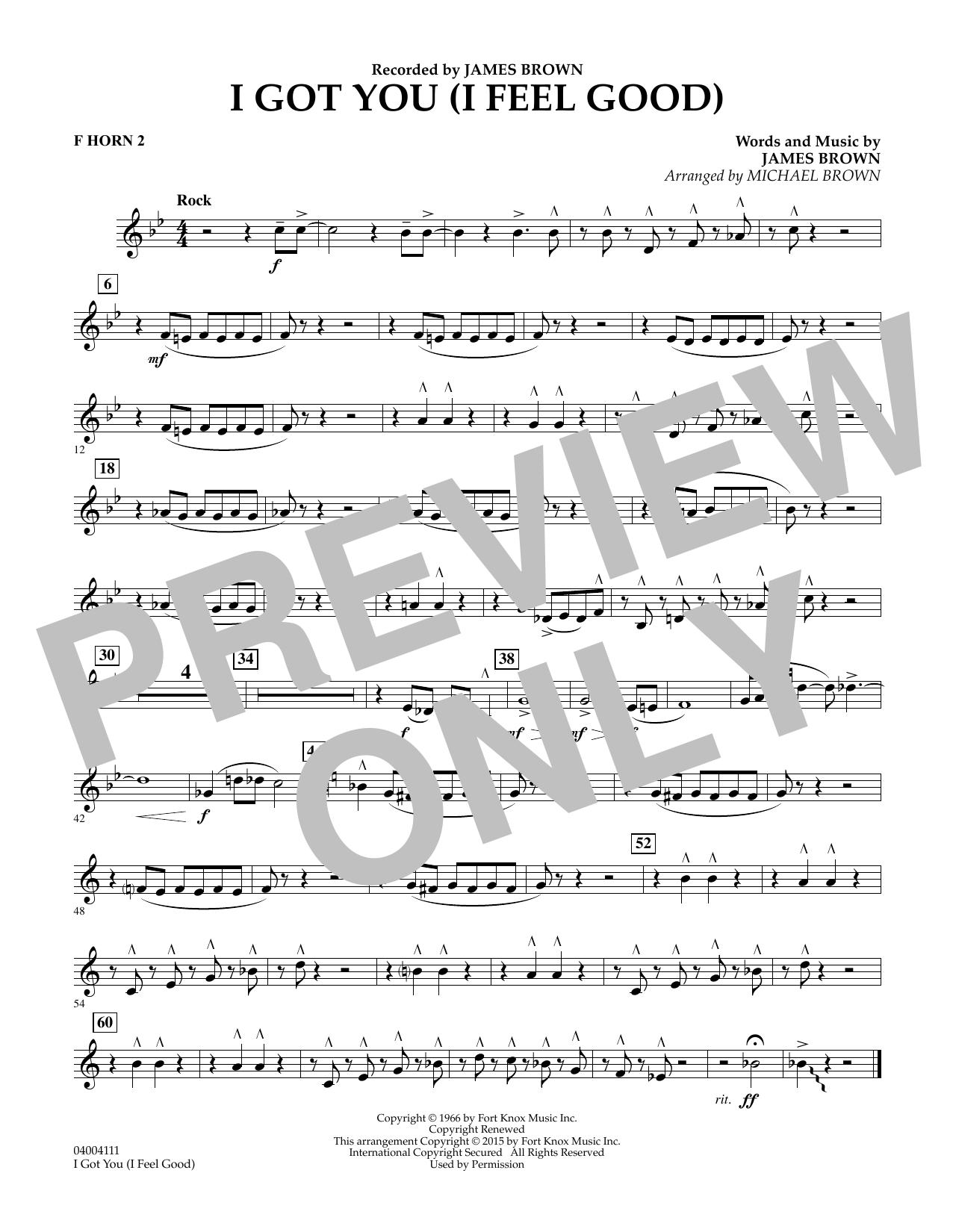 I Got You (I Feel Good) - F Horn 2 (Concert Band)