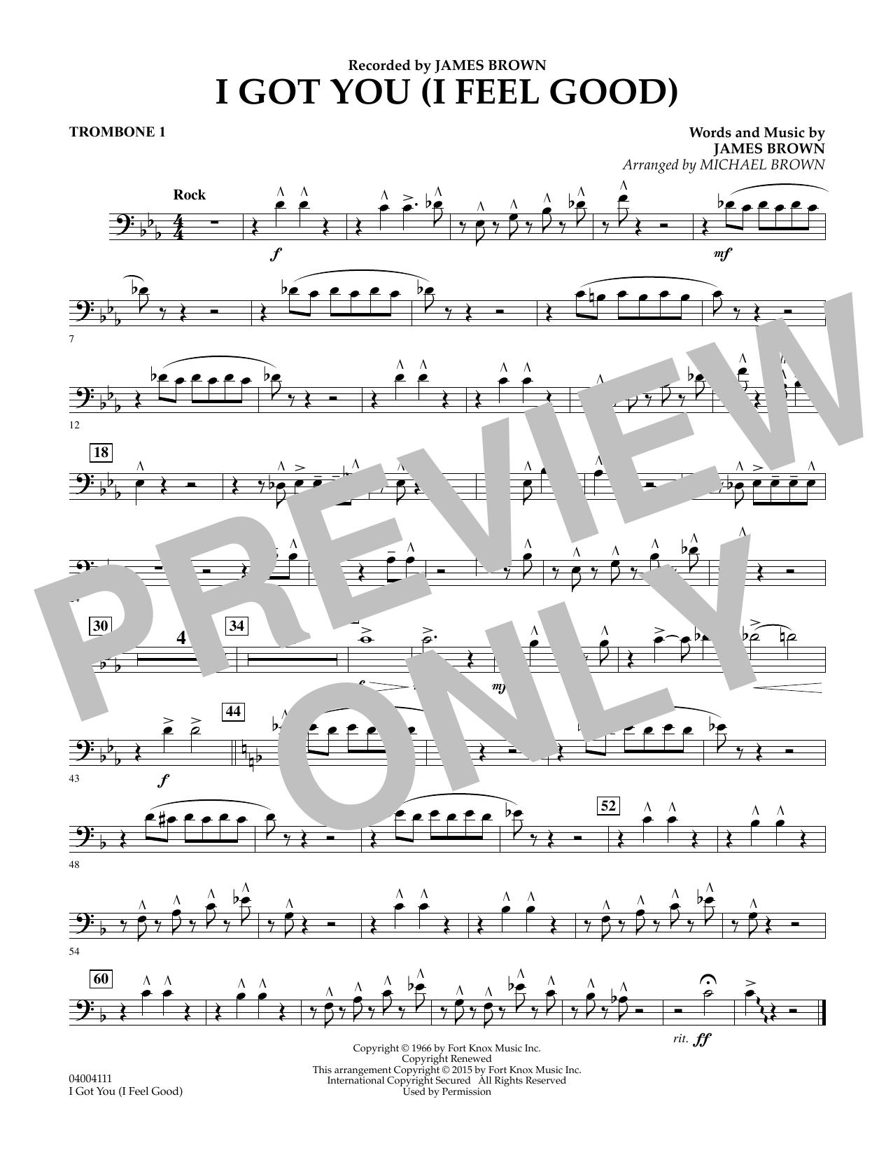 I Got You (I Feel Good) - Trombone 1 (Concert Band)