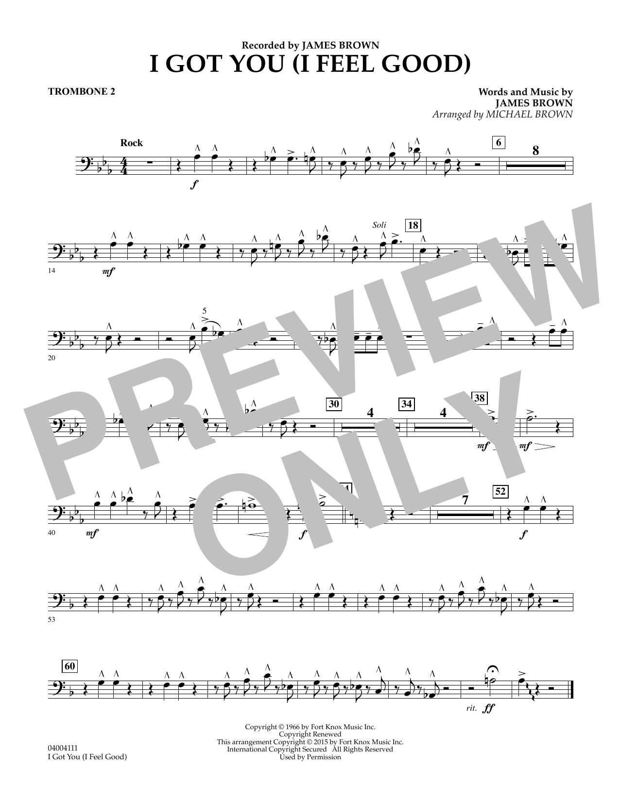 I Got You (I Feel Good) - Trombone 2 (Concert Band)
