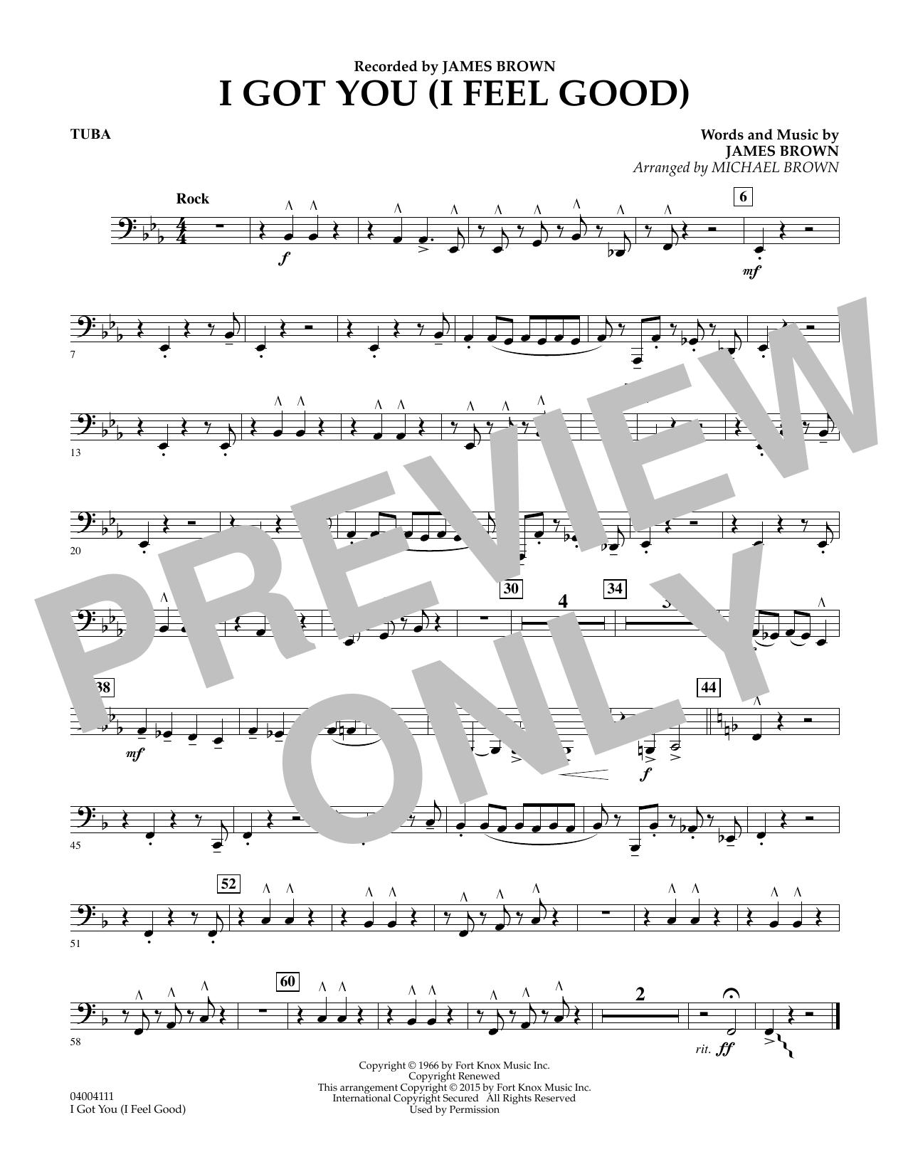 I Got You (I Feel Good) - Tuba (Concert Band)