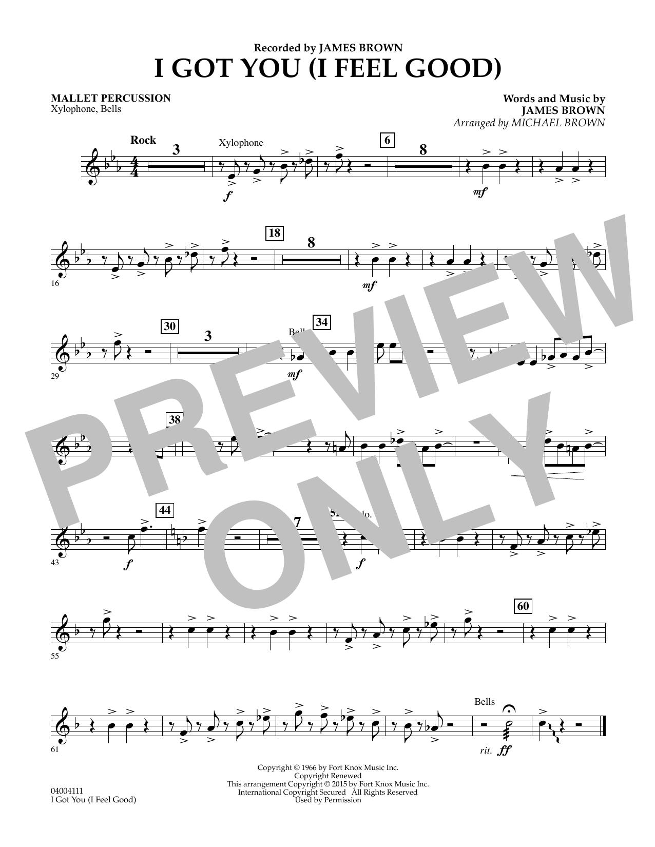 I Got You (I Feel Good) - Mallet Percussion (Concert Band)