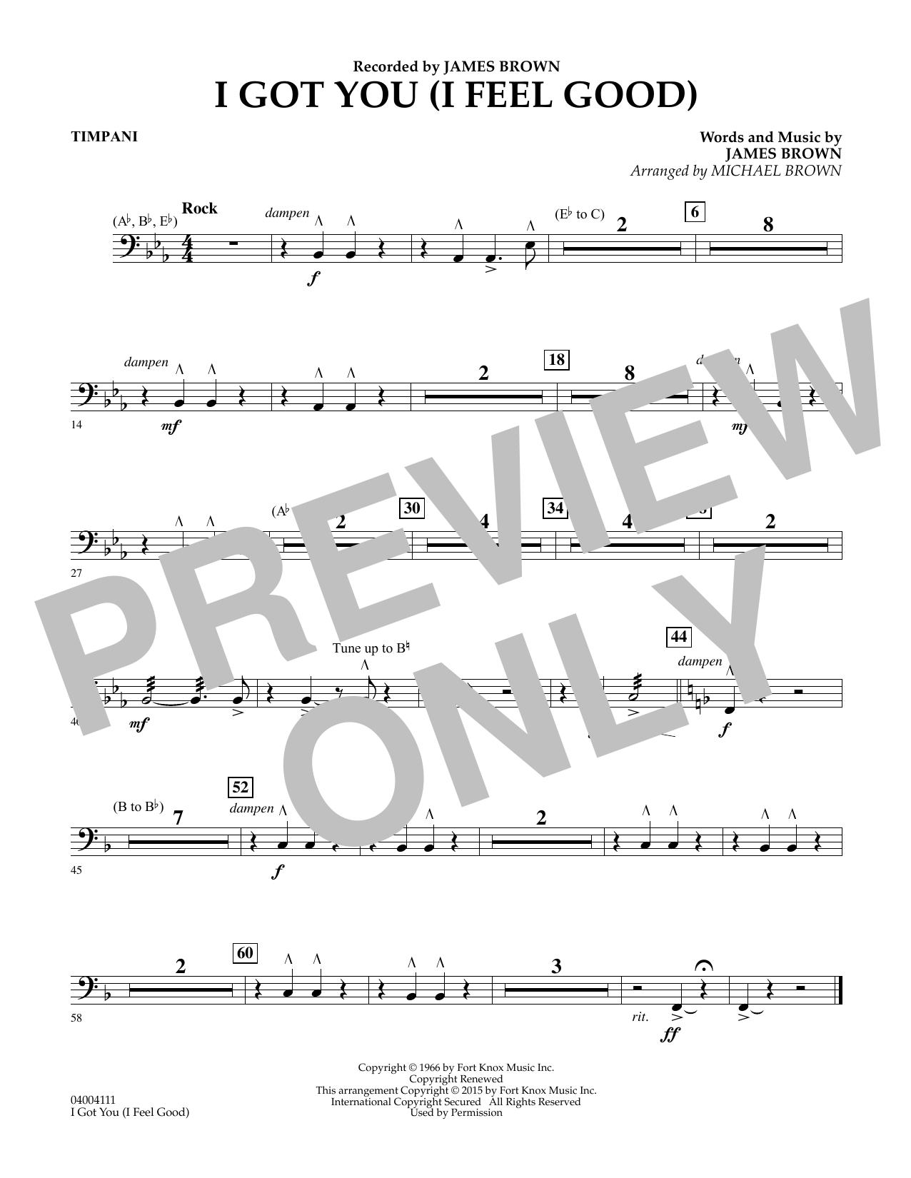 I Got You (I Feel Good) - Timpani (Concert Band)