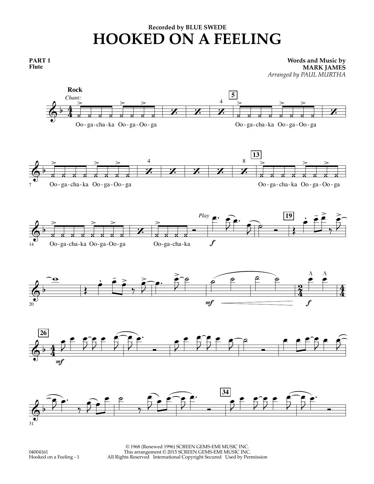 Hooked On A Feeling - Pt.1 - Flute (Flex-Band)