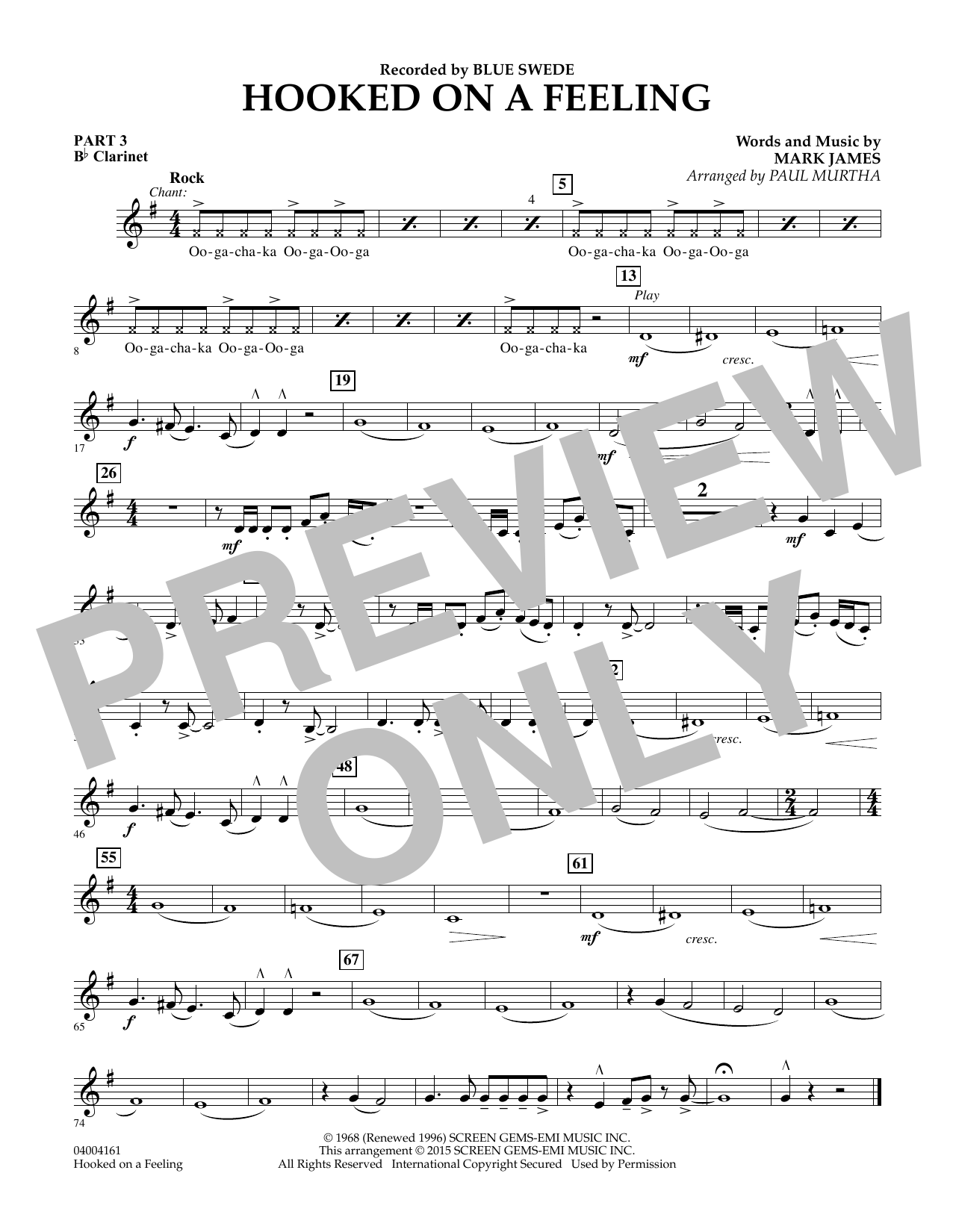 Hooked On A Feeling - Pt.3 - Bb Clarinet (Flex-Band)