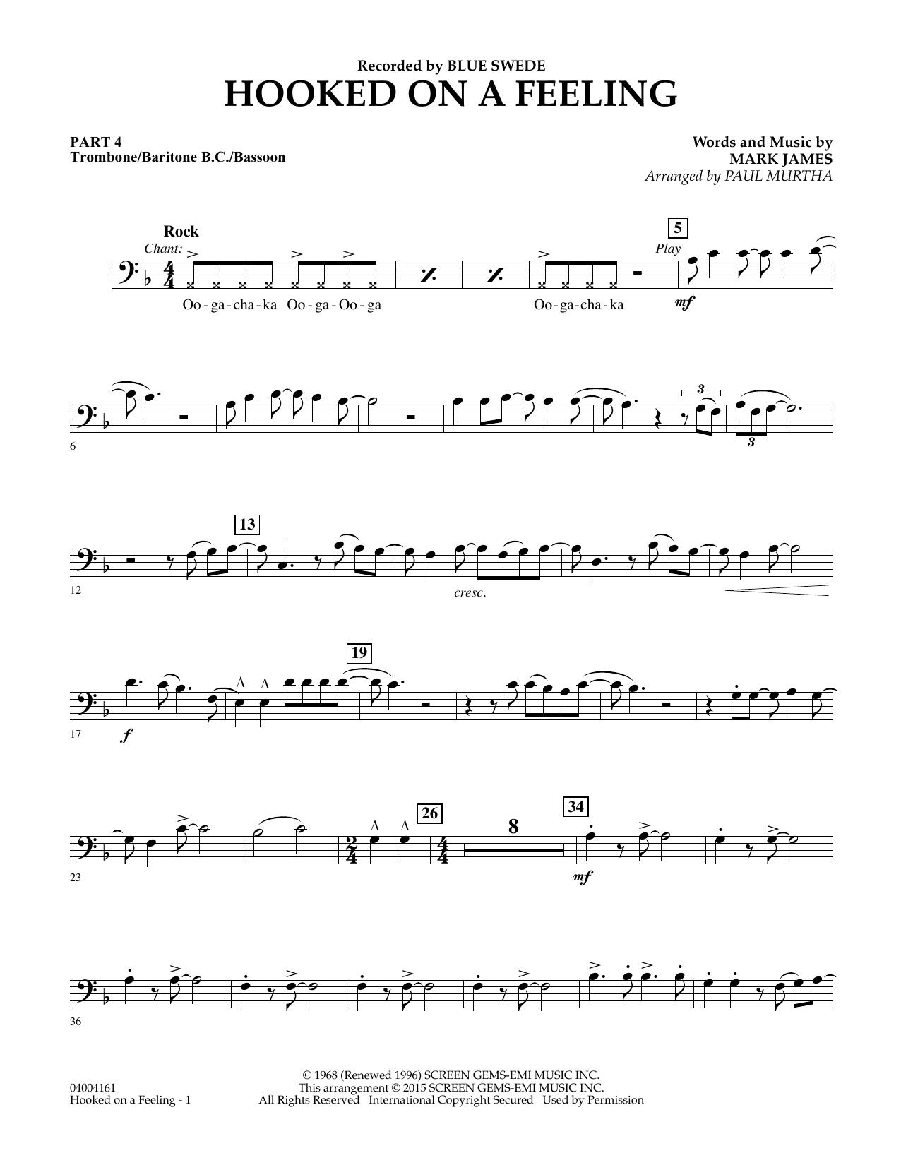 Hooked On A Feeling - Pt.4 - Trombone/Bar. B.C./Bsn. (Flex-Band)