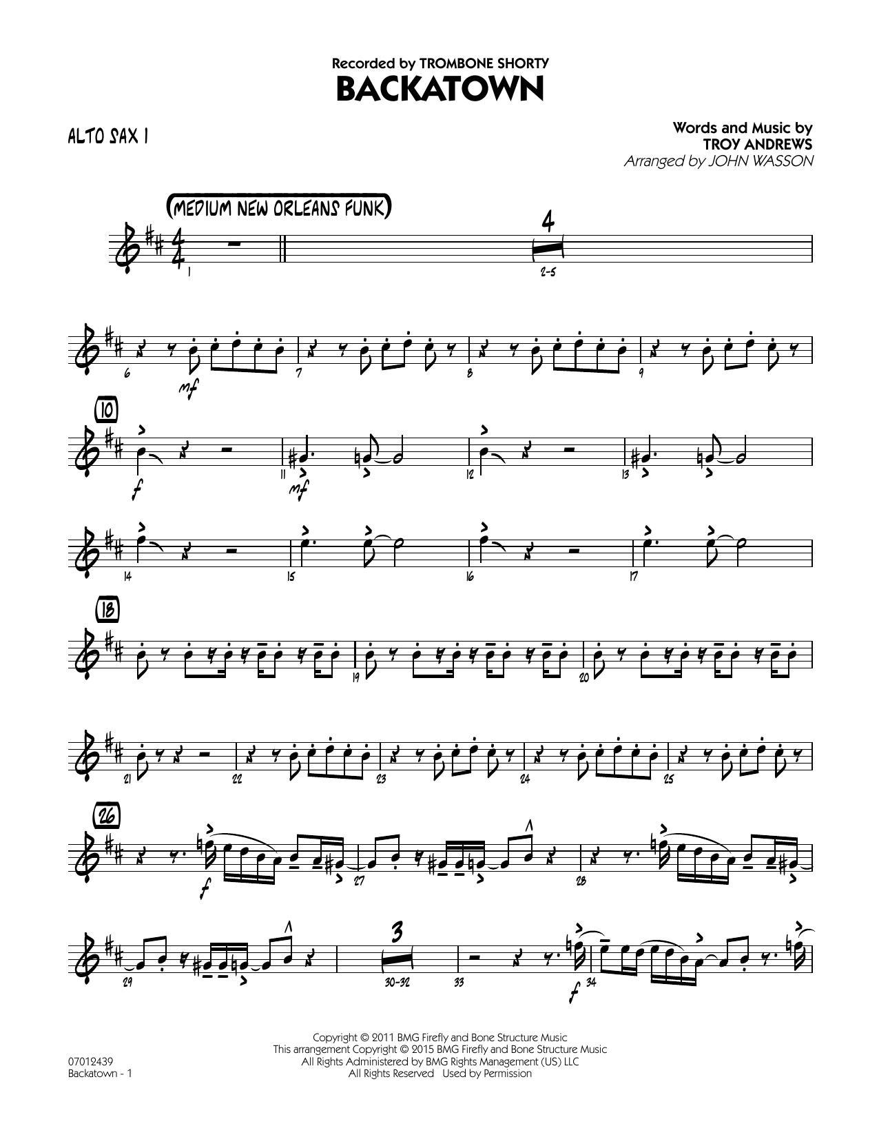 Backatown - Alto Sax 1 (Jazz Ensemble)