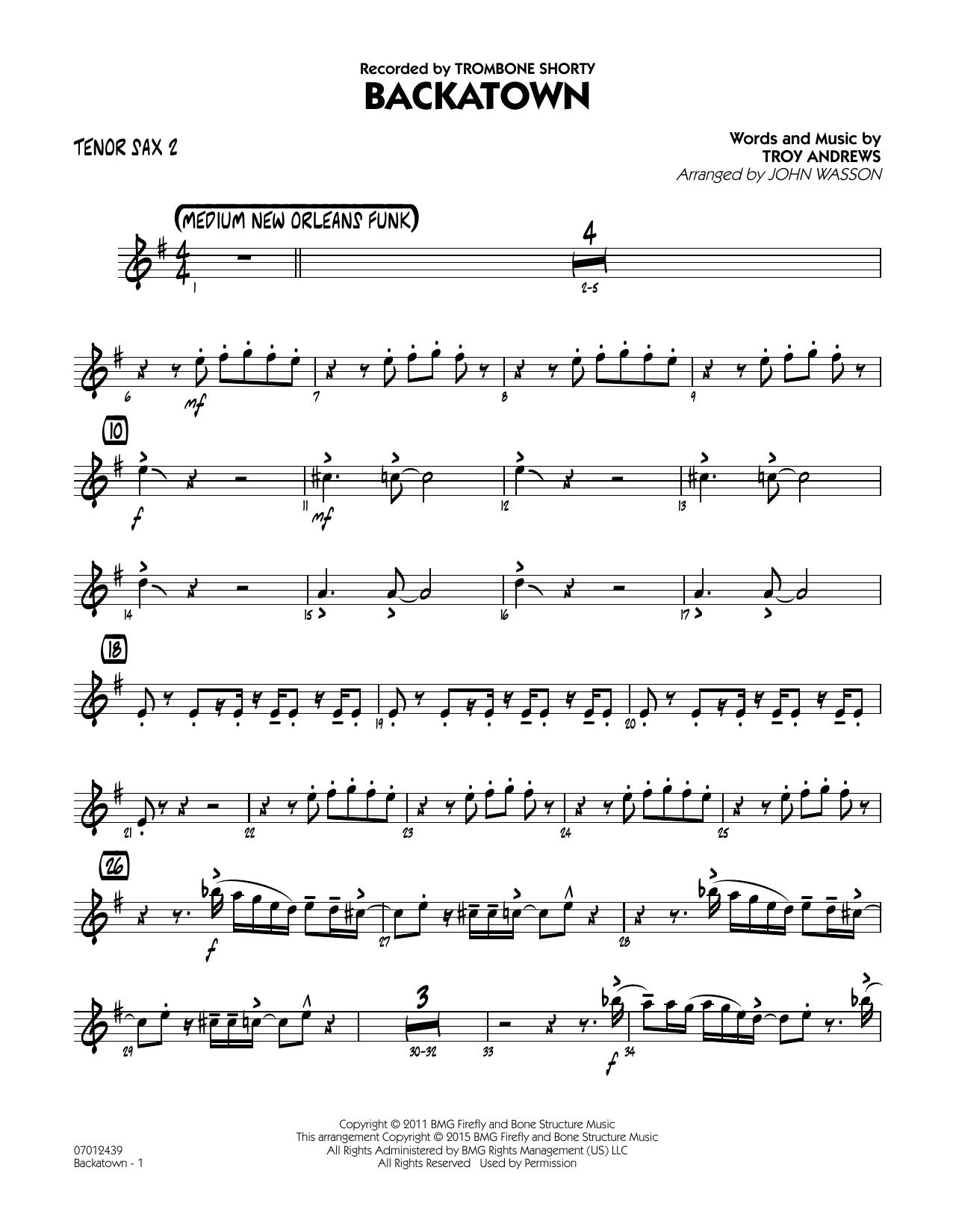 Backatown - Tenor Sax 2 (Jazz Ensemble)