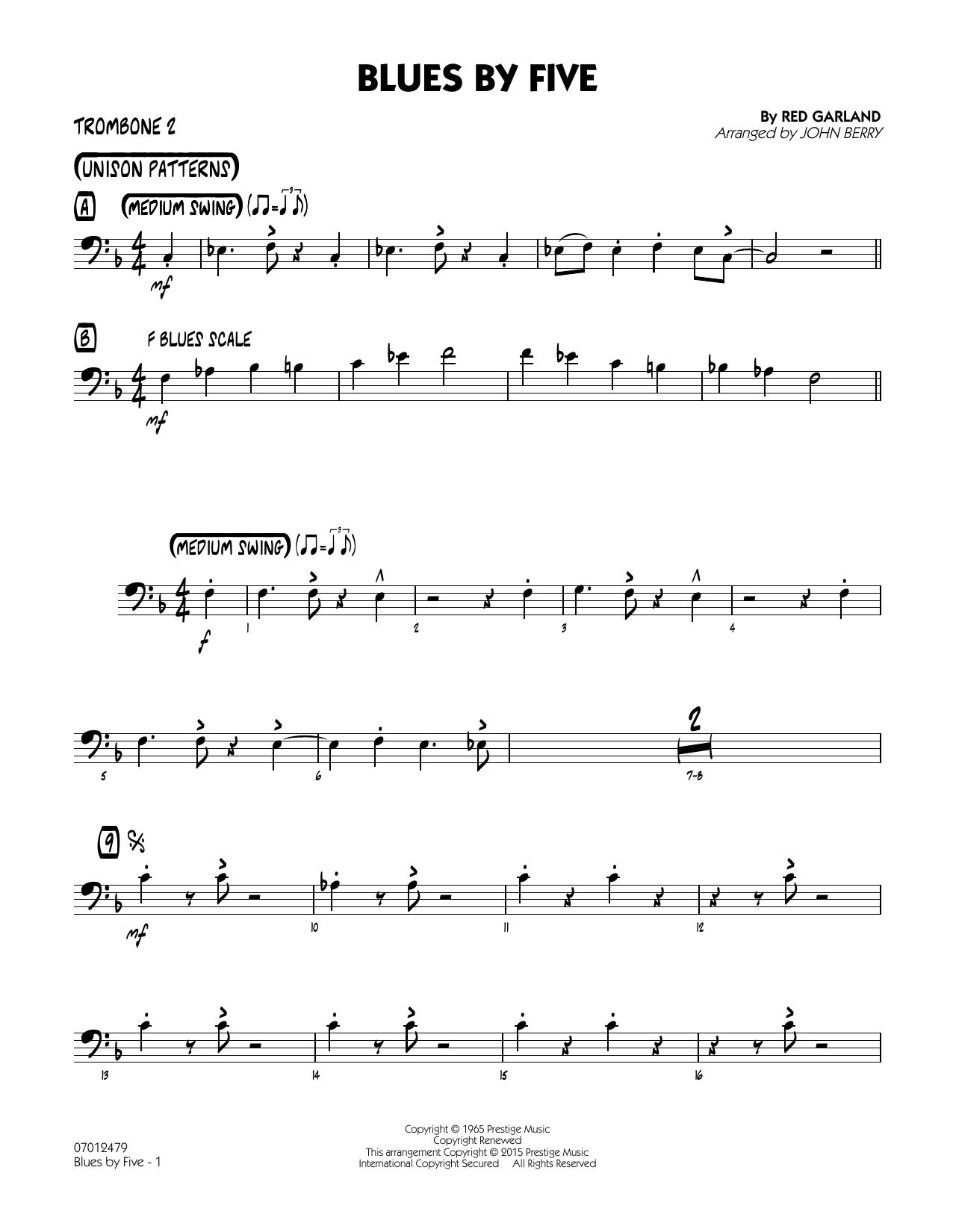 Blues by Five - Trombone 2 (Jazz Ensemble)