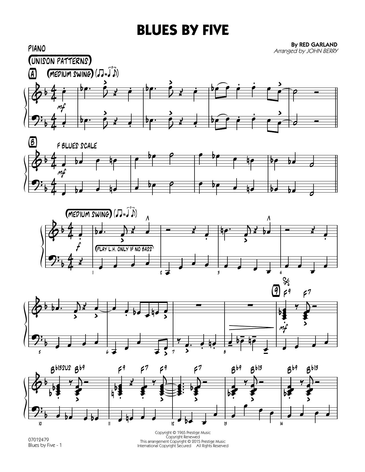 Blues by Five - Piano (Jazz Ensemble)