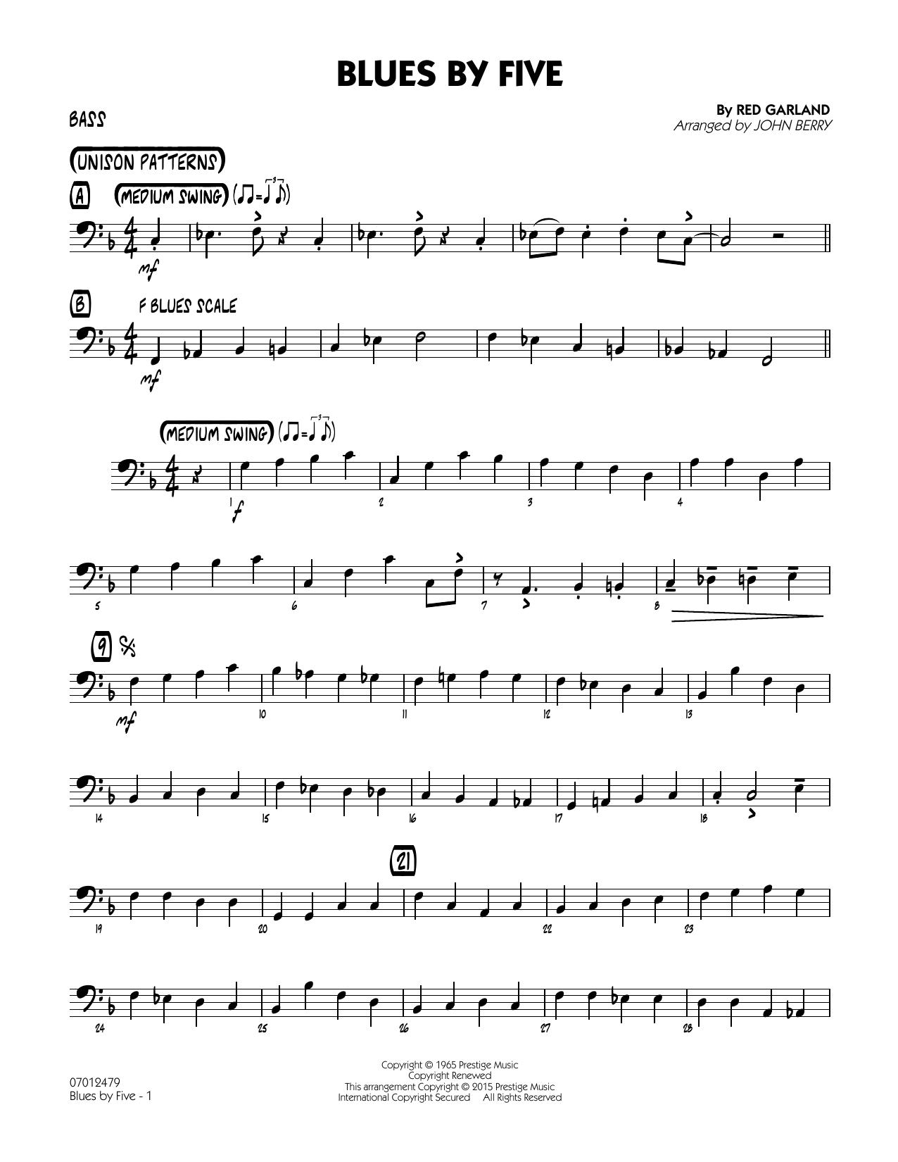 Blues by Five - Bass (Jazz Ensemble)