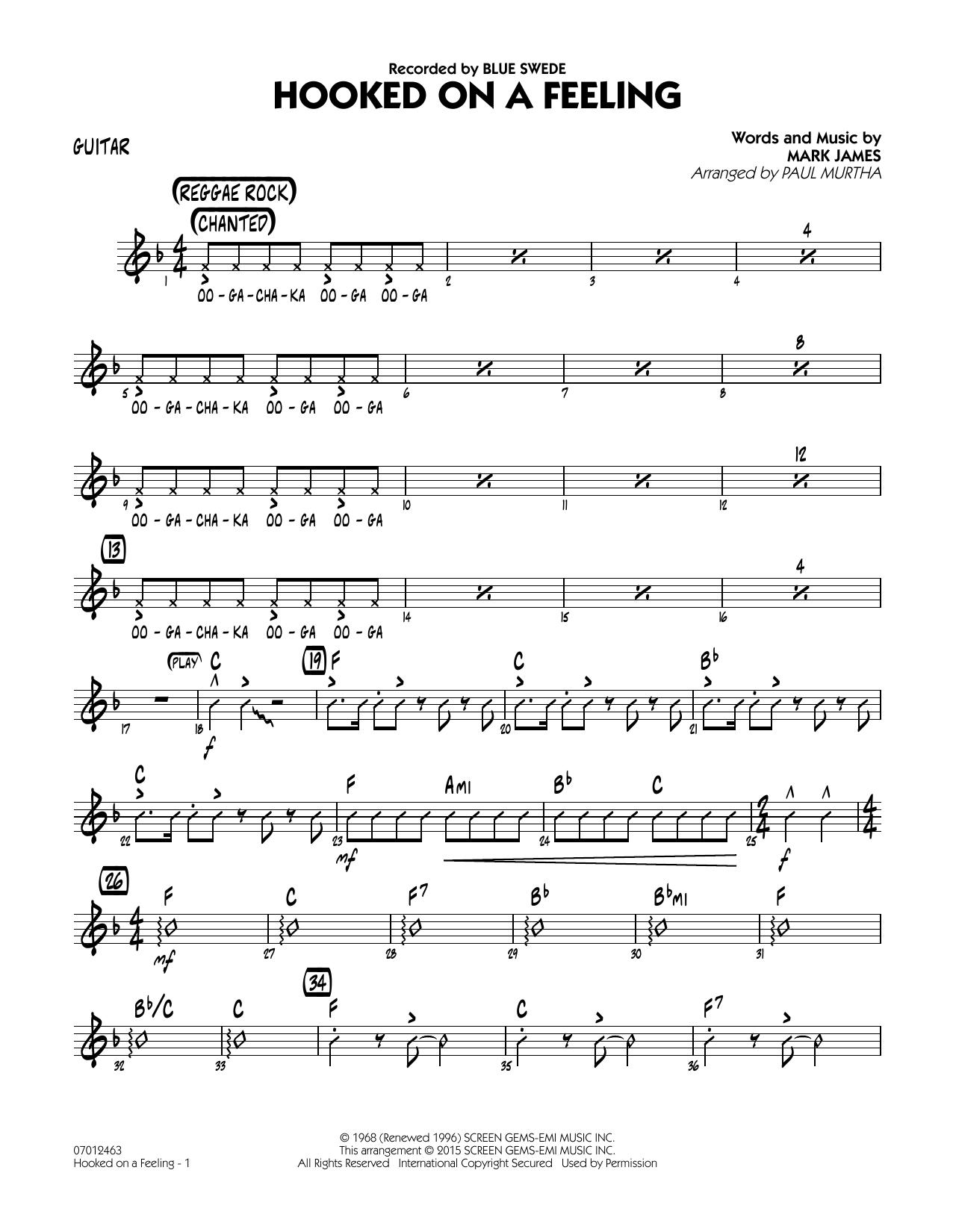 Hooked On A Feeling - Guitar (Jazz Ensemble)