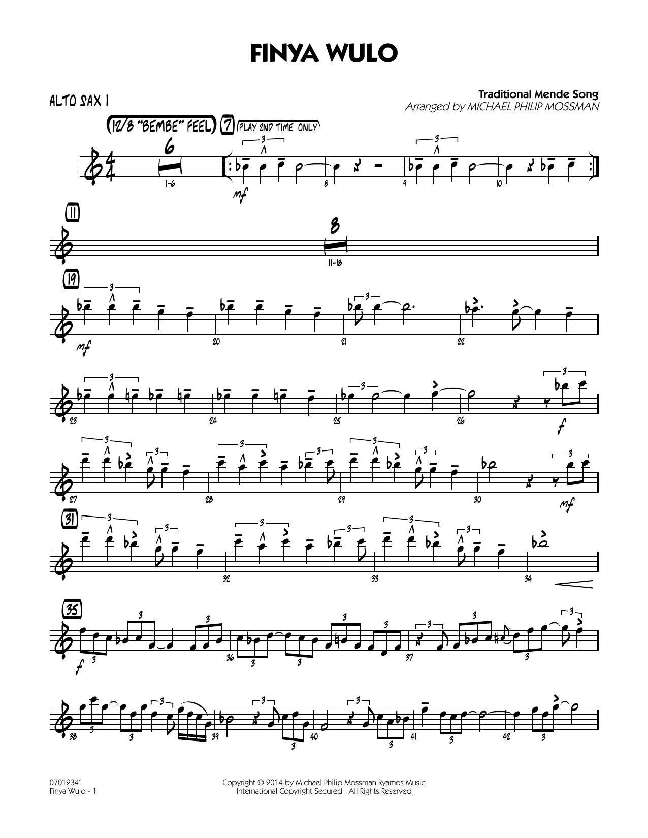 Finya Wulo - Alto Sax 1 (Jazz Ensemble)