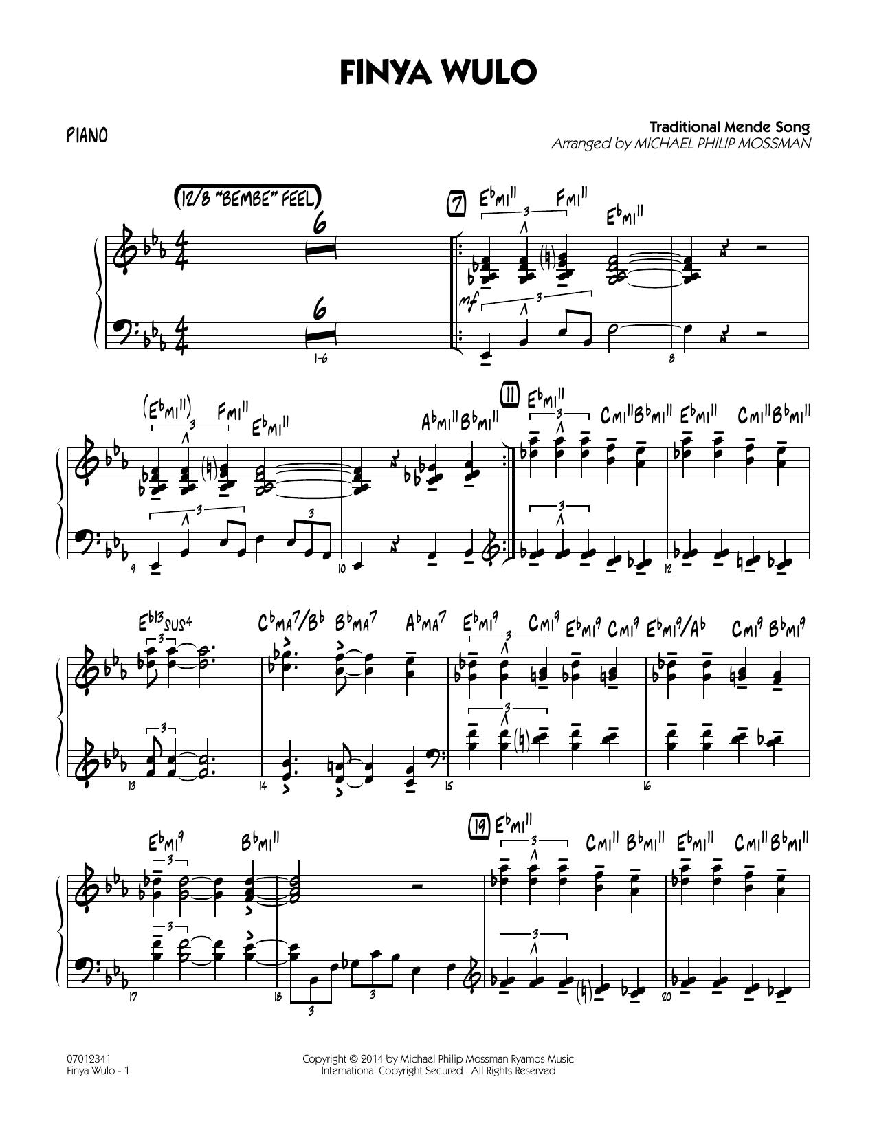 Finya Wulo - Piano (Jazz Ensemble)
