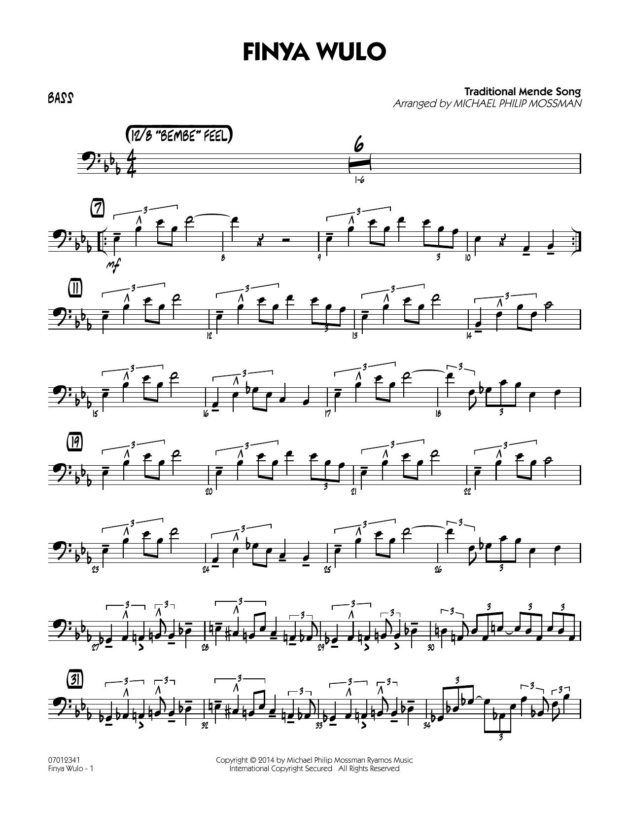 Finya Wulo - Bass (Jazz Ensemble)