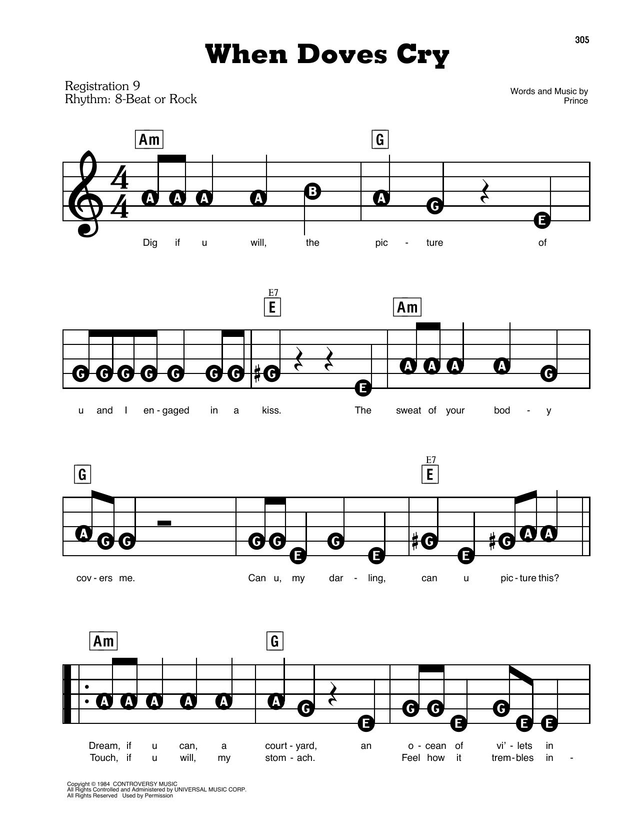 When Doves Cry (E-Z Play Today)