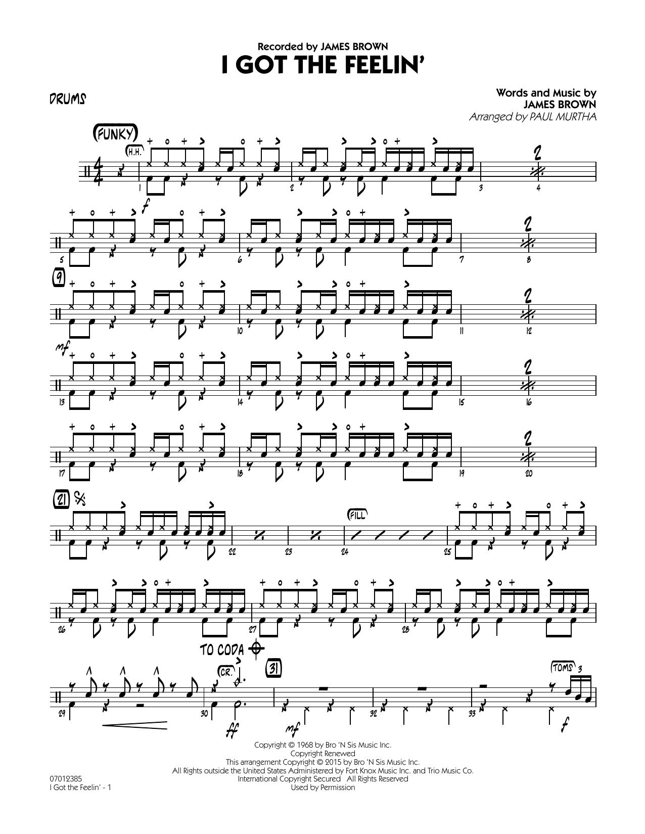 I Got The Feelin' - Drums (Jazz Ensemble)