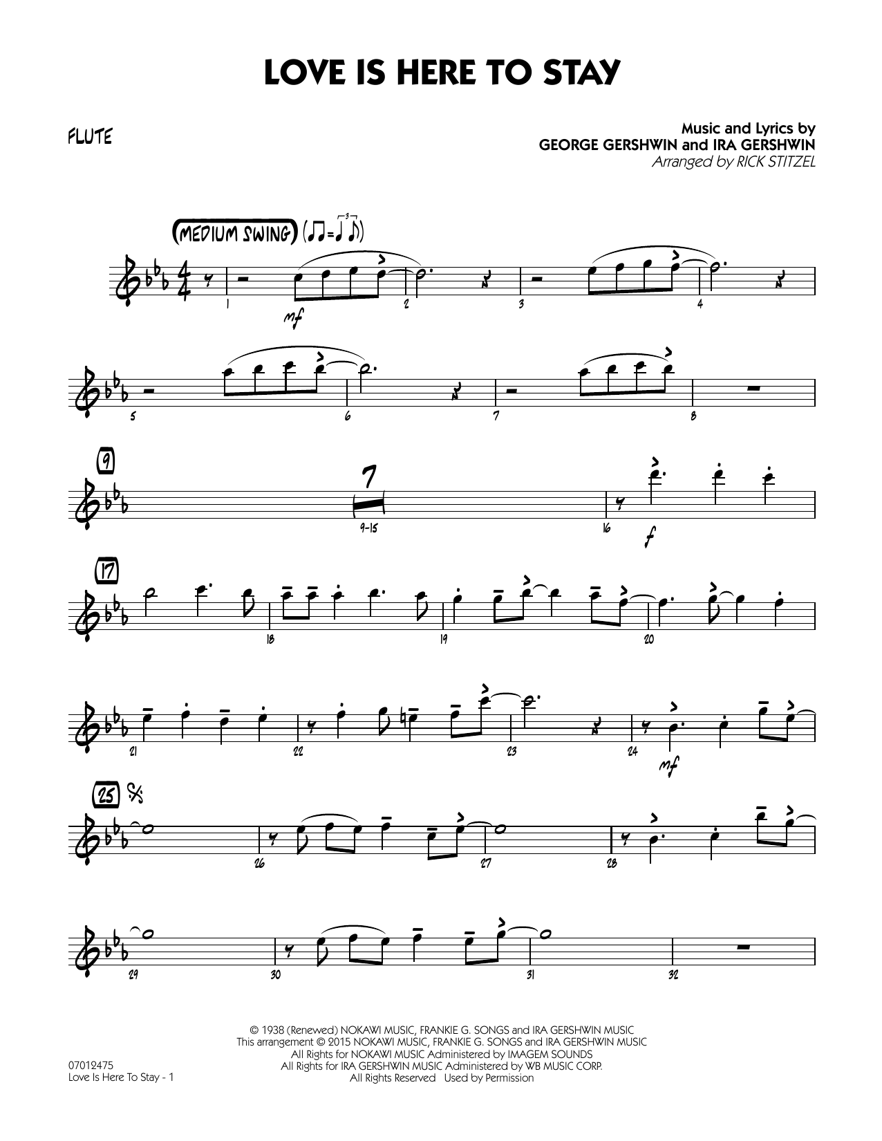 Love Is Here To Stay - Score & Parts by George Gershwin