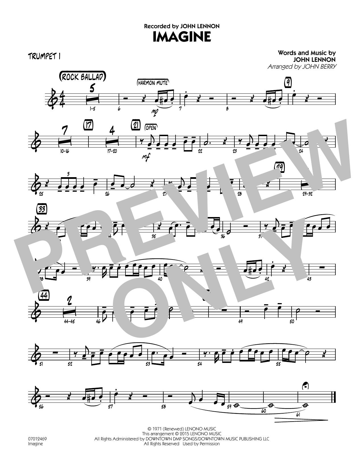 Imagine - Trumpet 1 (Jazz Ensemble)