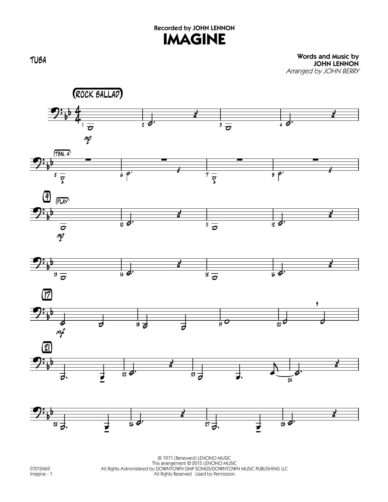 Imagine - Tuba (Jazz Ensemble)