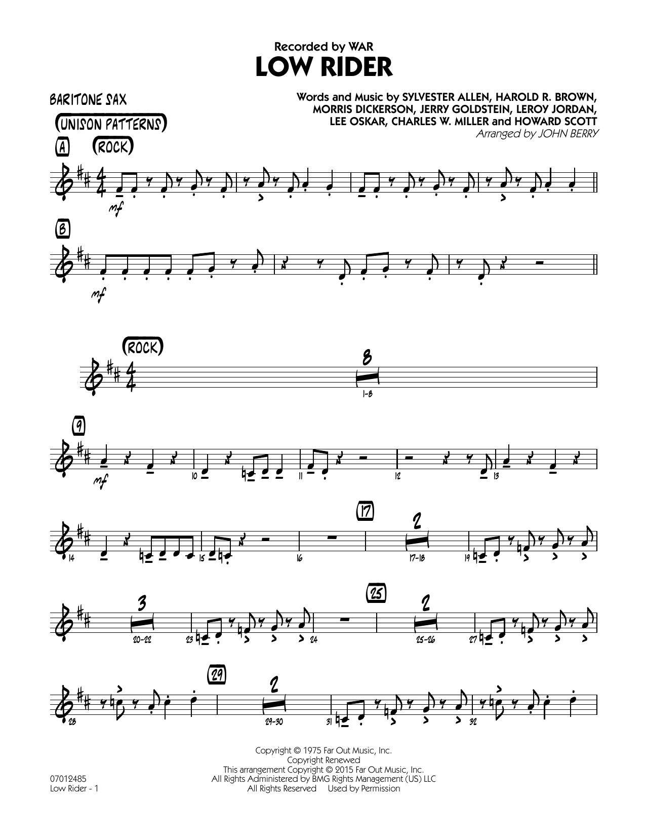Low Rider - Baritone Sax (Jazz Ensemble)