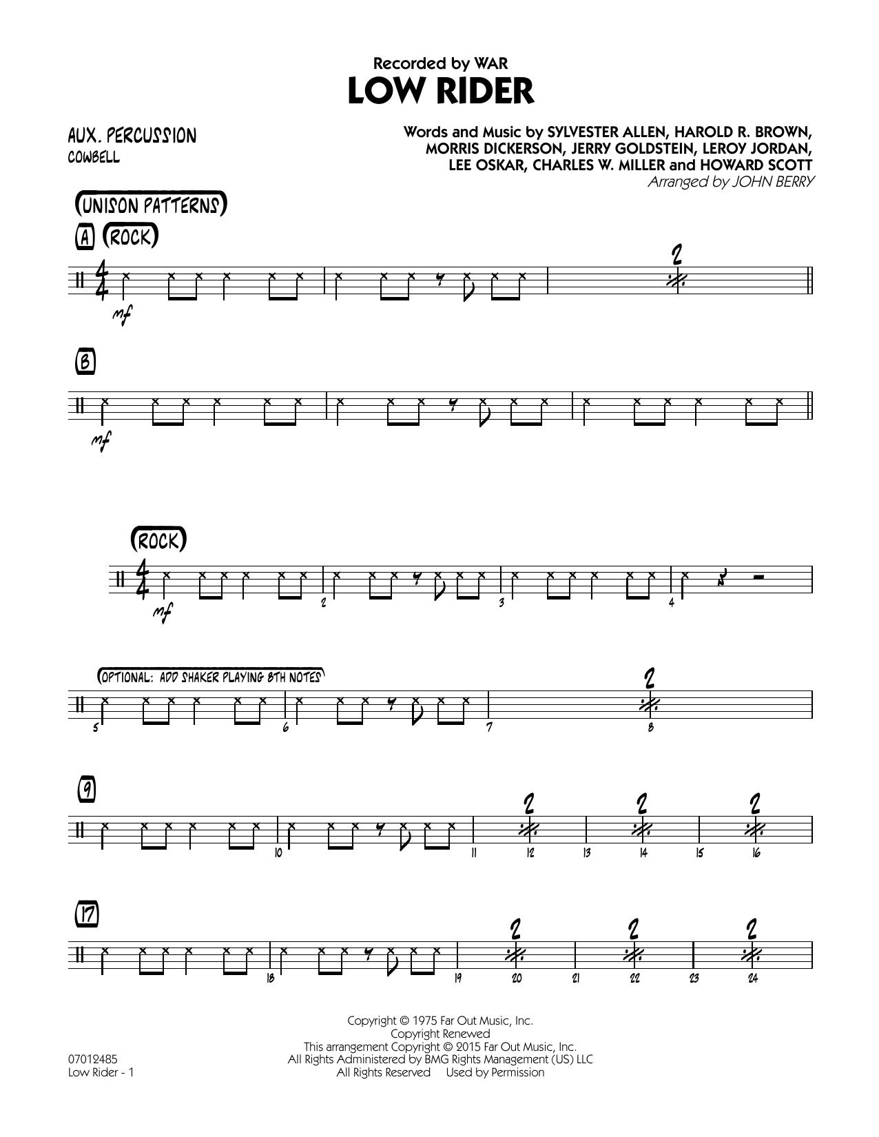 Low Rider - Aux Percussion (Jazz Ensemble)