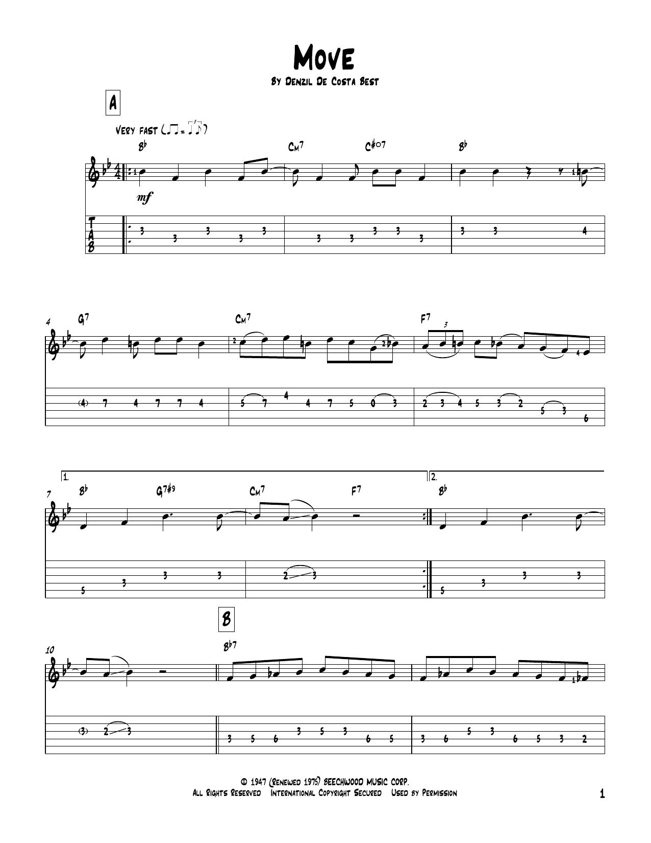 Move Sheet Music