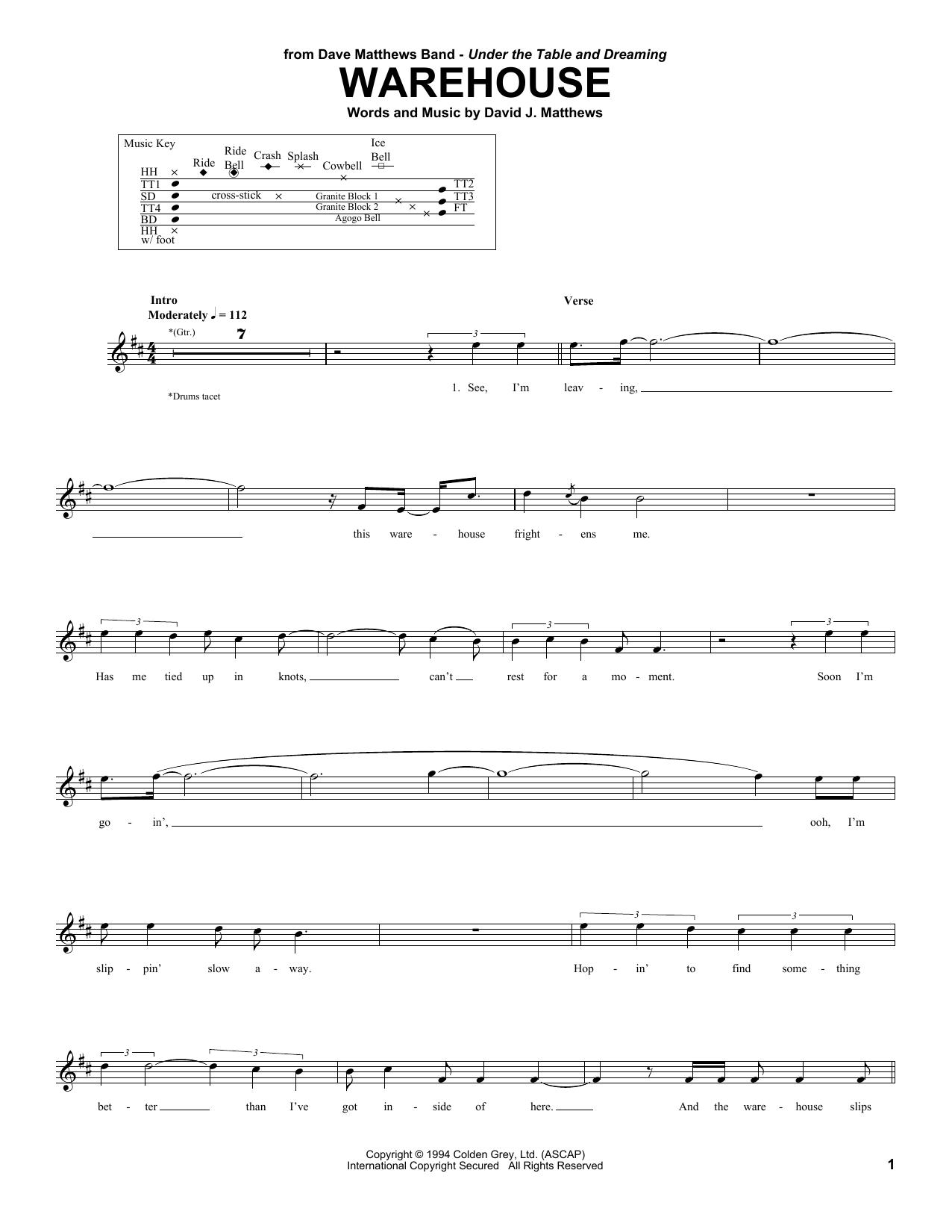 Warehouse Sheet Music